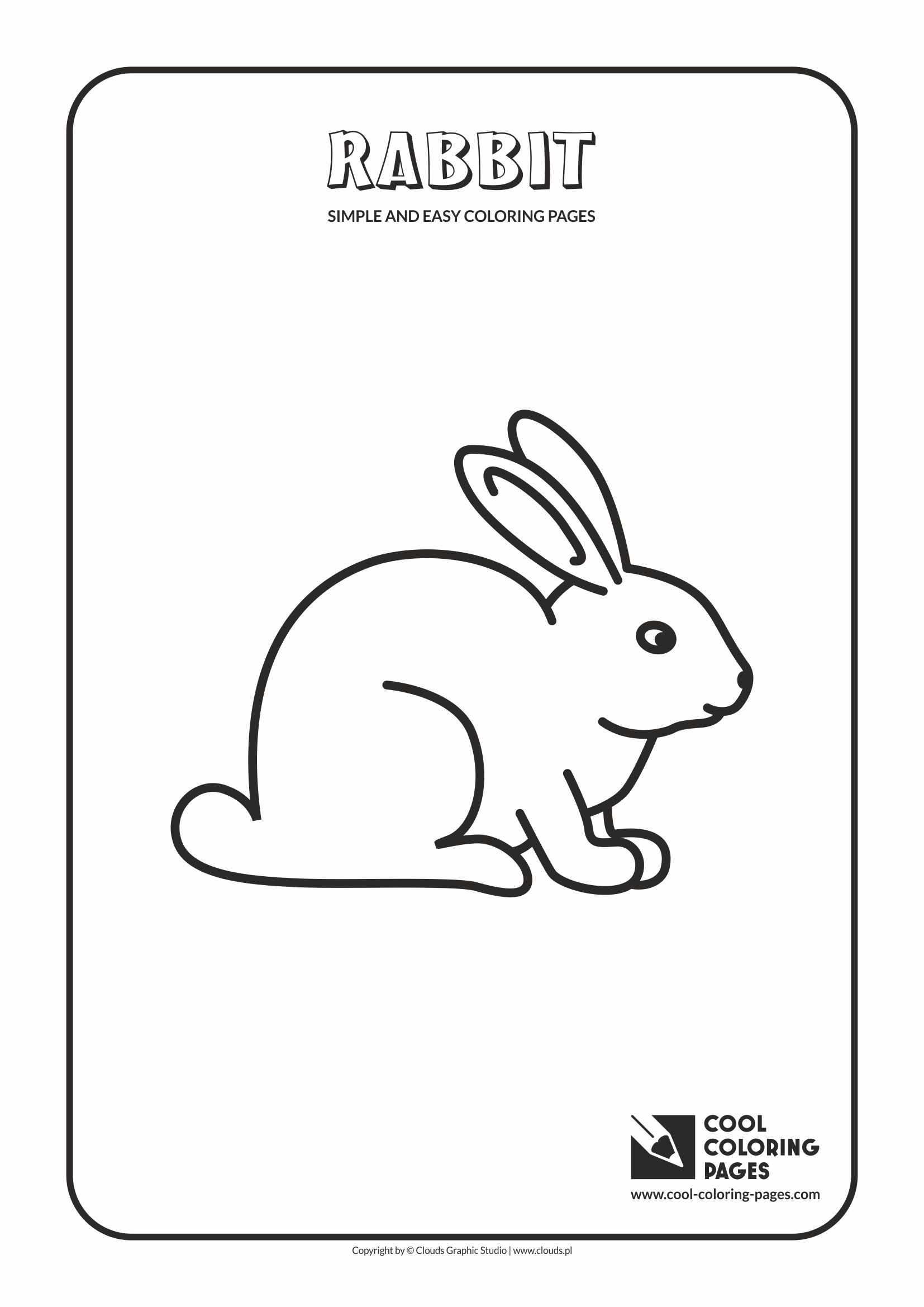 Simple and easy coloring pages for toddlers - Rabbit
