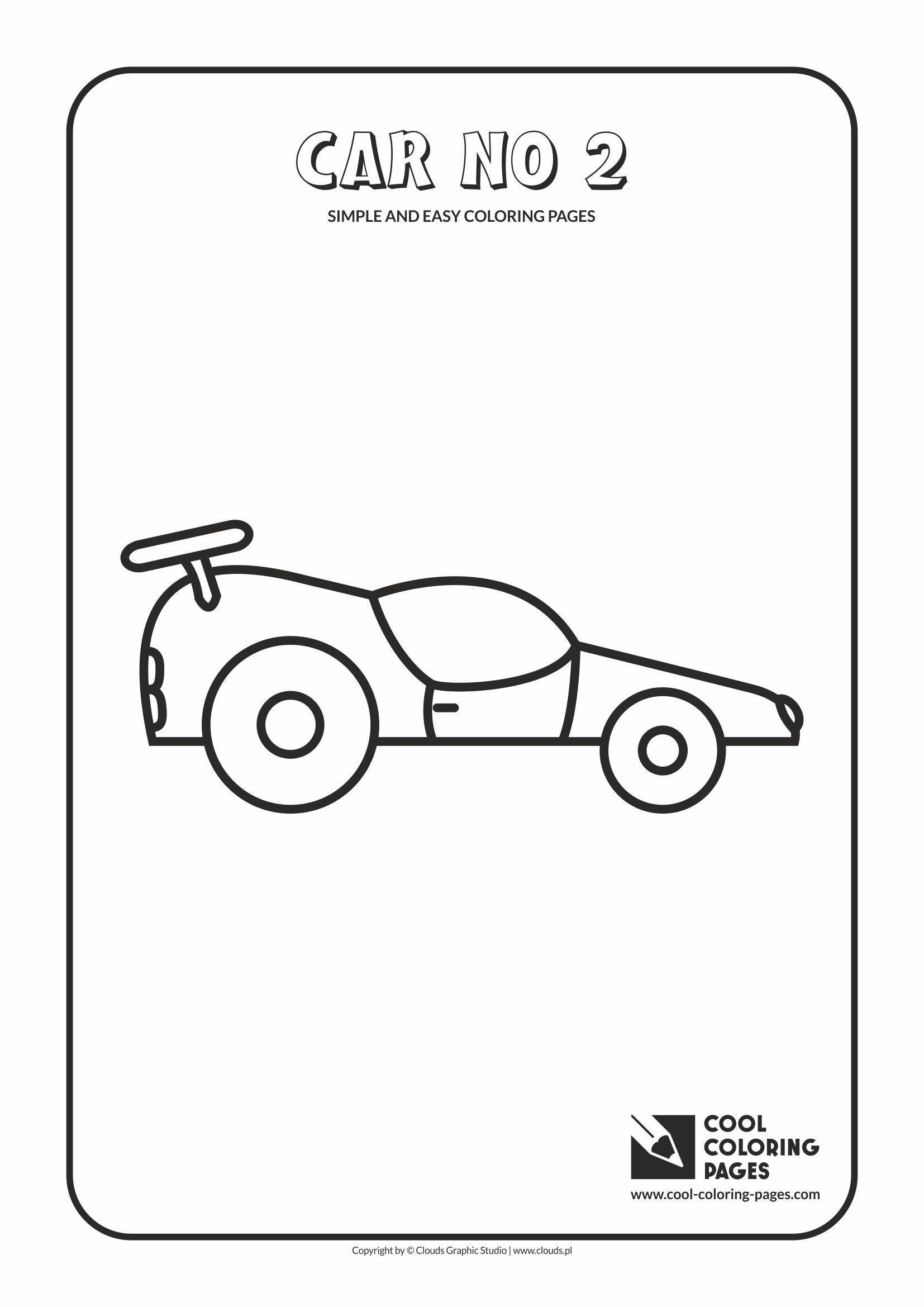 Simple and easy coloring pages for toddlers - Car no 2