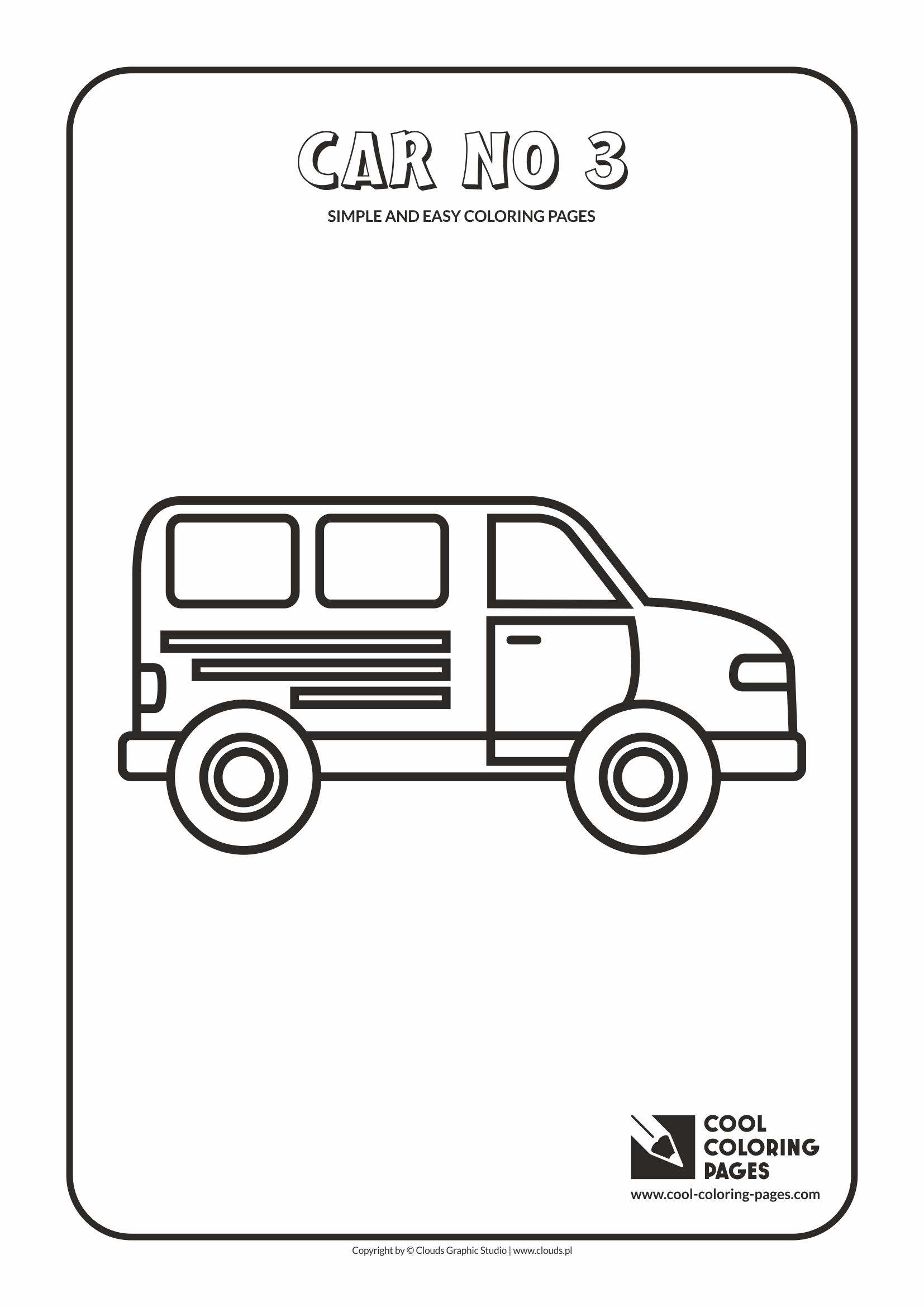 Simple and easy coloring pages for toddlers - Car no 3