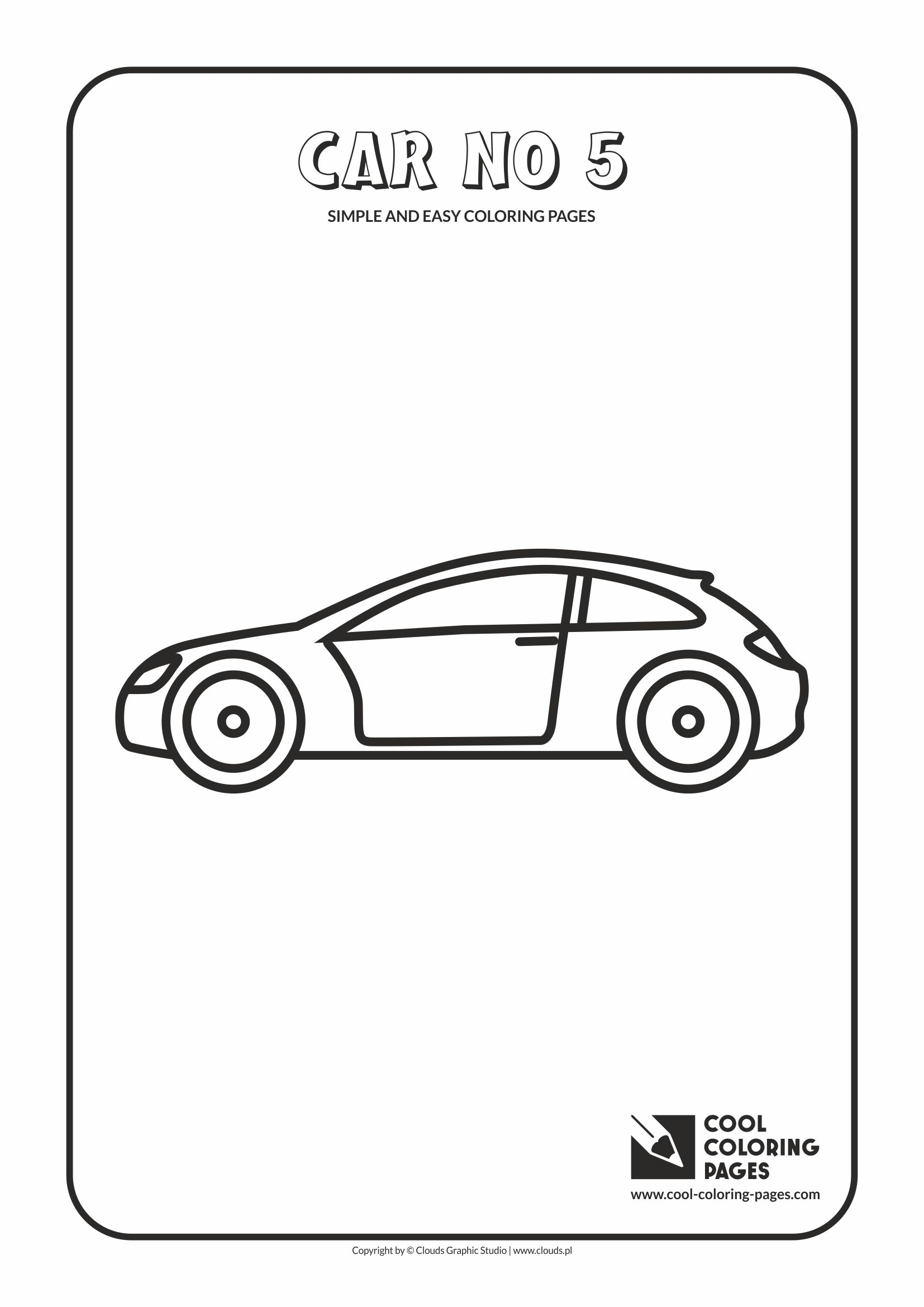 Simple and easy coloring pages for toddlers - Car no 5