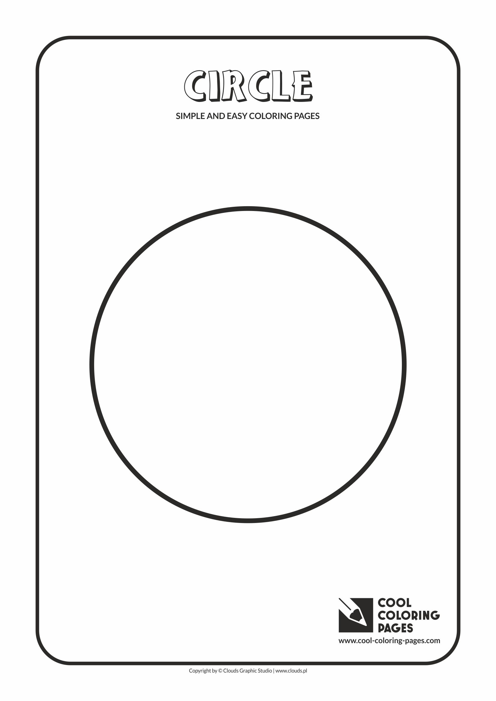 Simple and easy coloring pages for toddlers - Circle