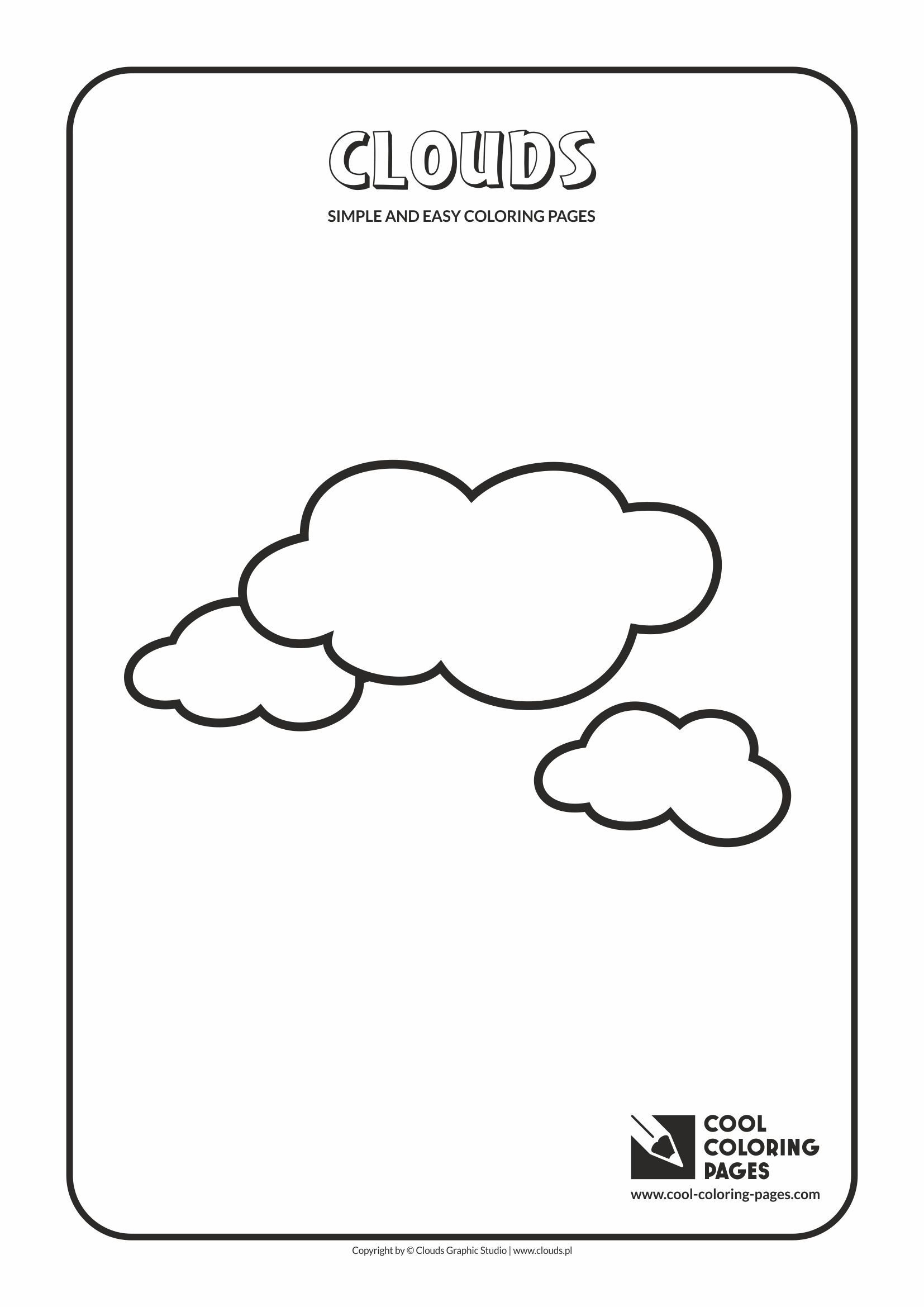 Simple and easy coloring pages for toddlers - Clouds