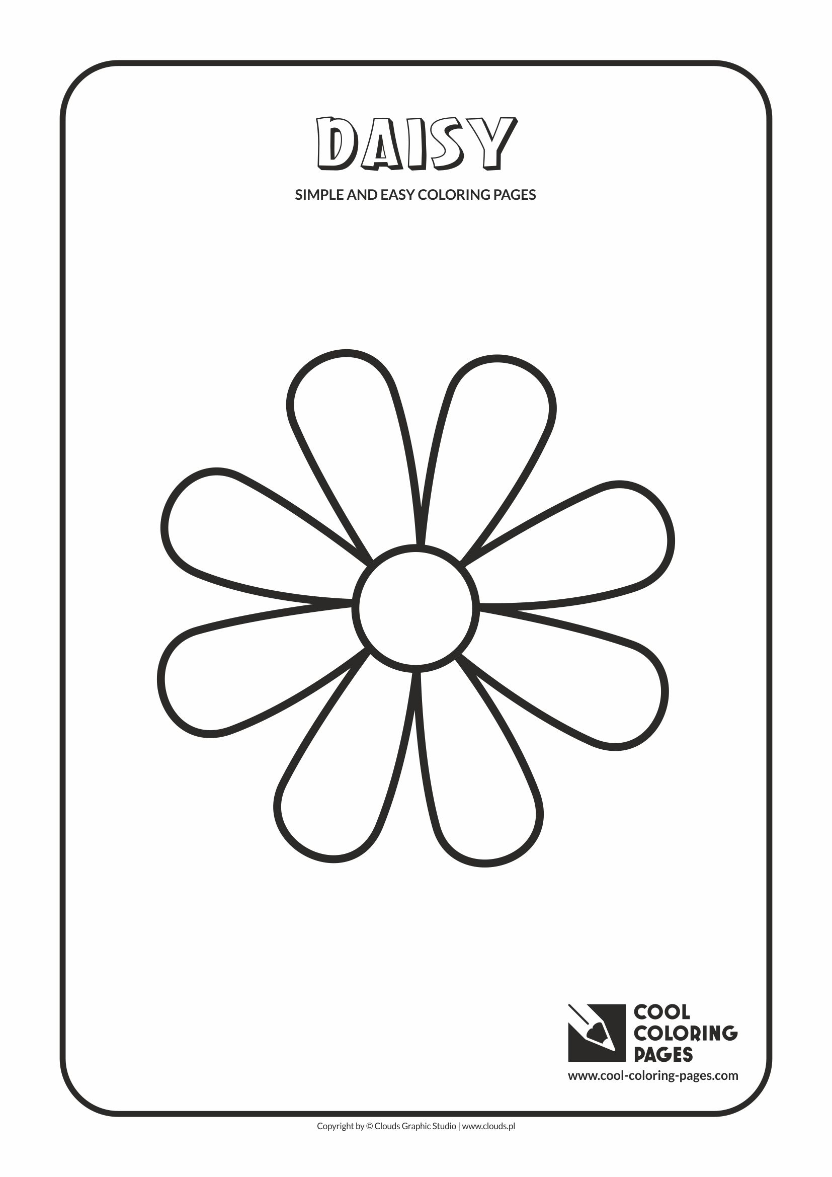 Simple and easy coloring pages for toddlers - Daisy