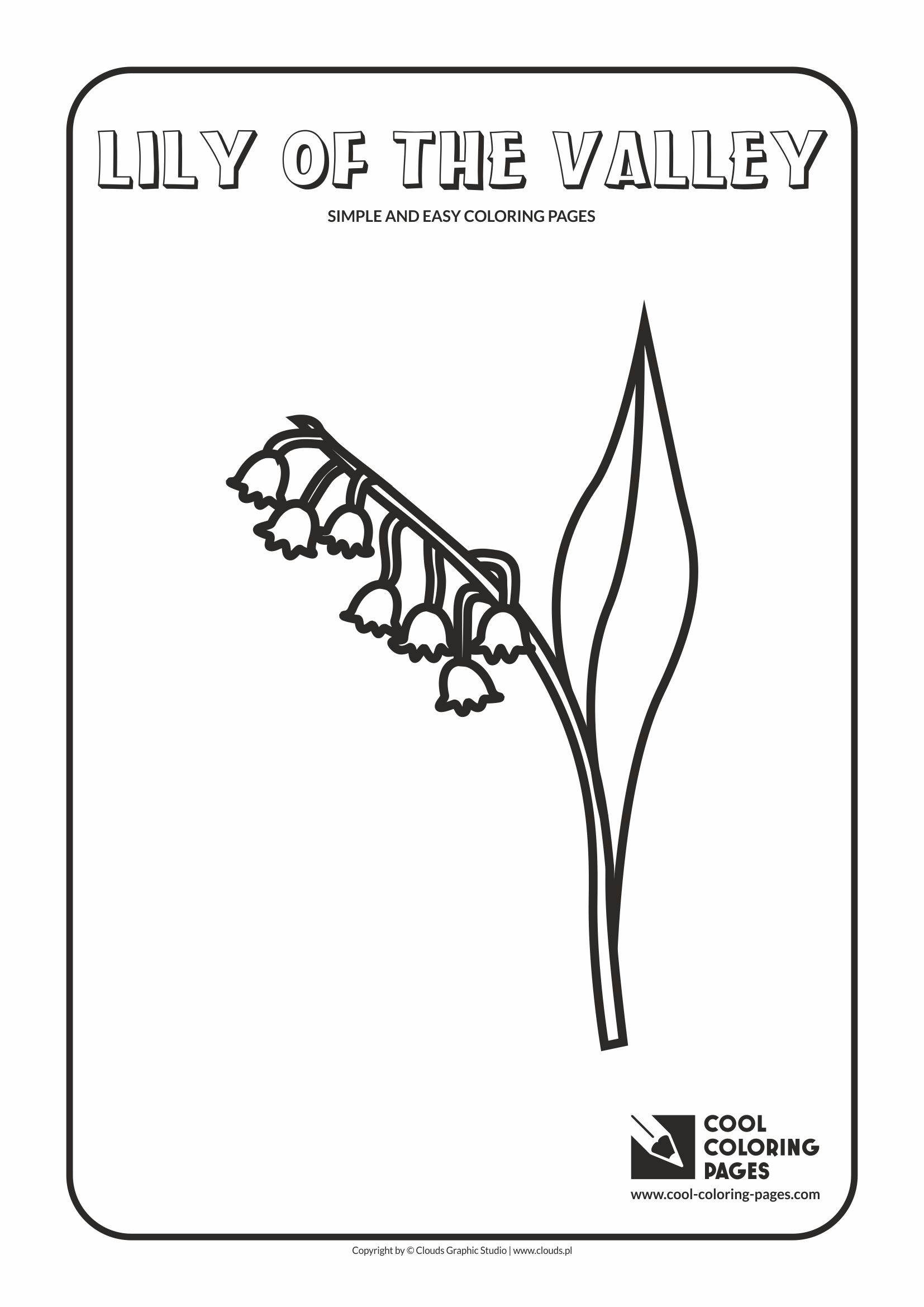 Simple and easy coloring pages for toddlers - Lily of the valley