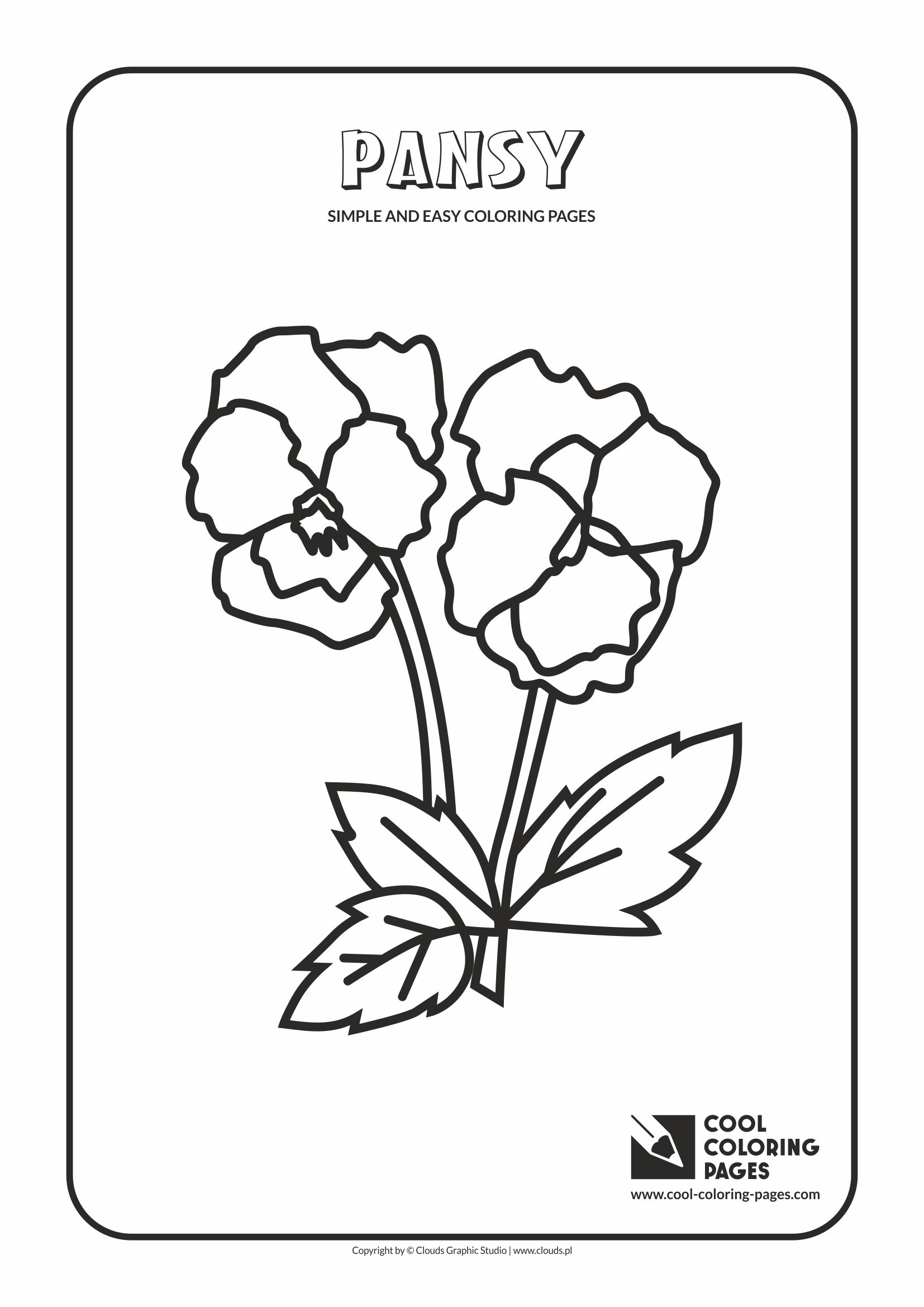 Simple and easy coloring pages for toddlers - Pansy