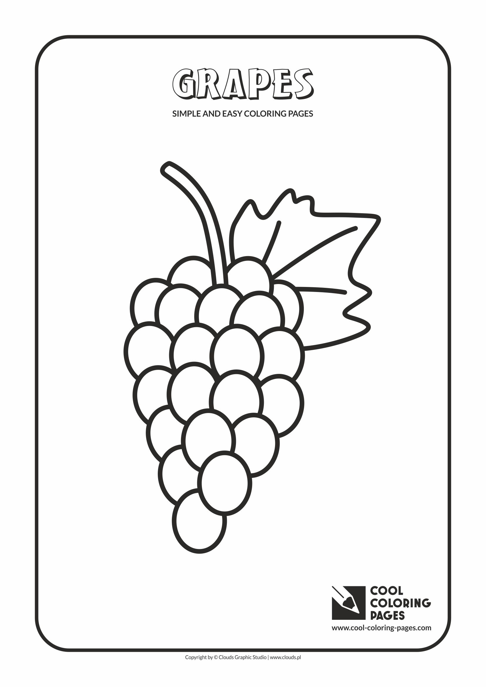 Coloring Pages Educational - Simple and easy coloring pages for toddlers grapes