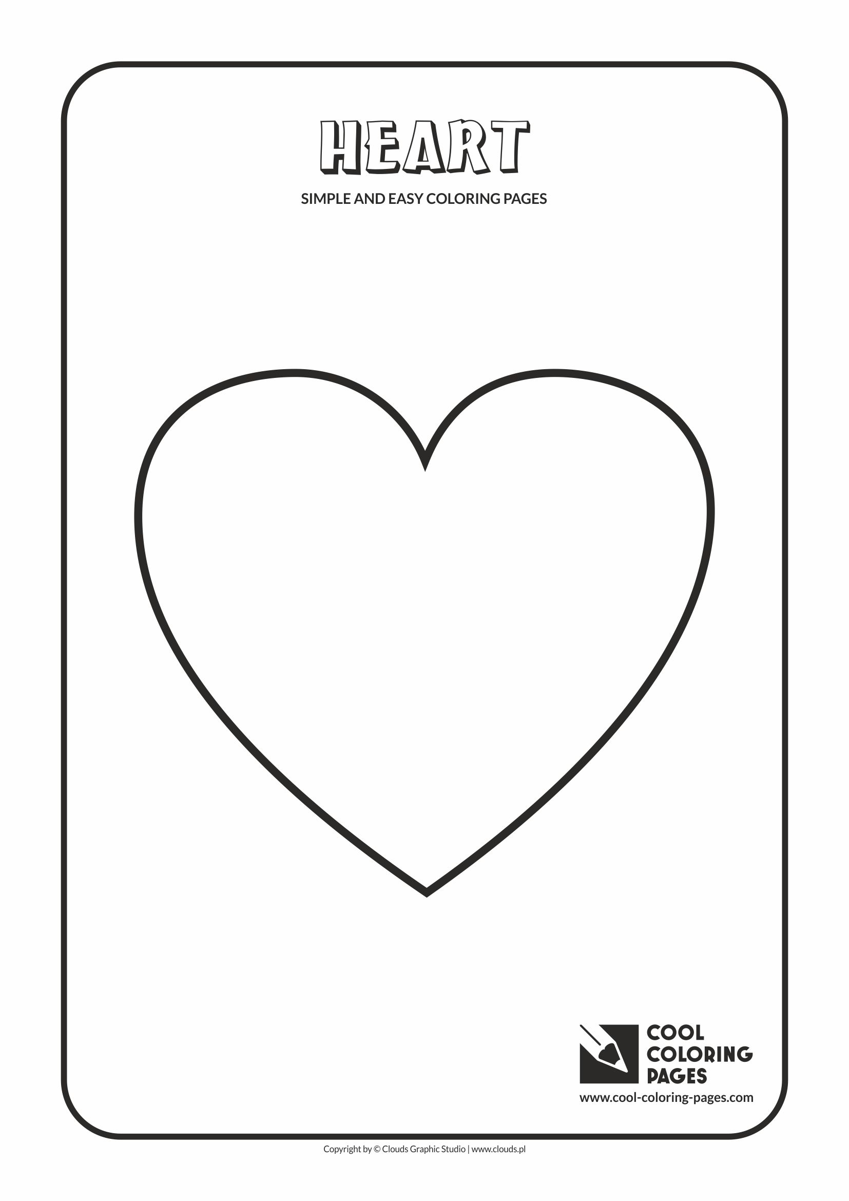 Simple And Easy Coloring Pages For Toddlers