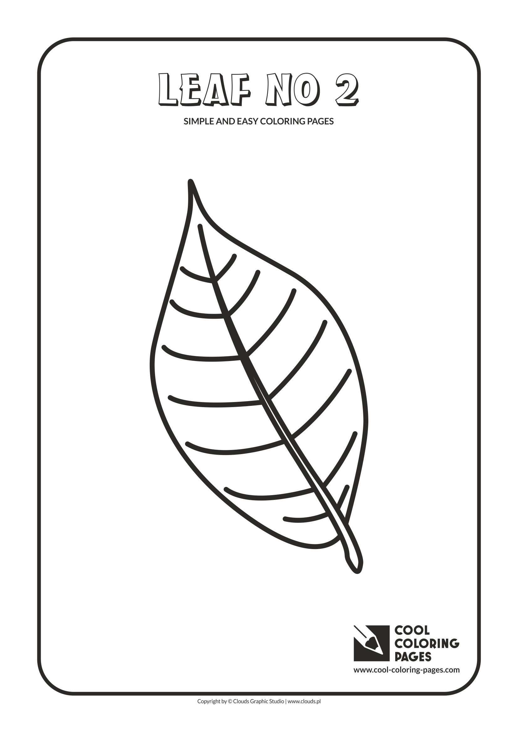 Simple and easy coloring pages for toddlers - Leaf no 2