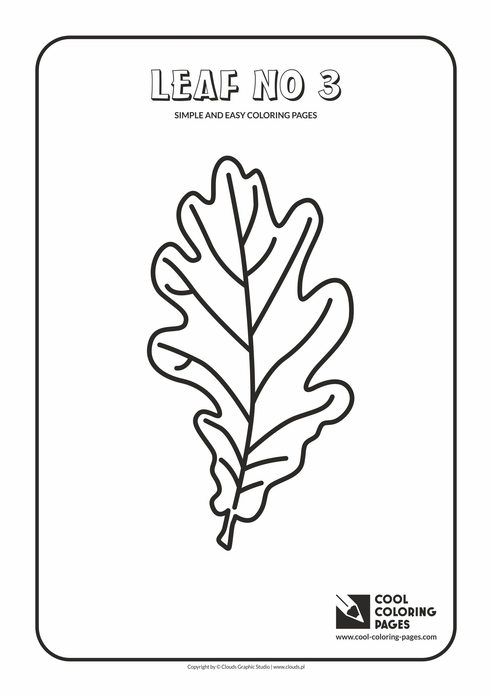 Simple and easy coloring pages for toddlers - Leaf no 3