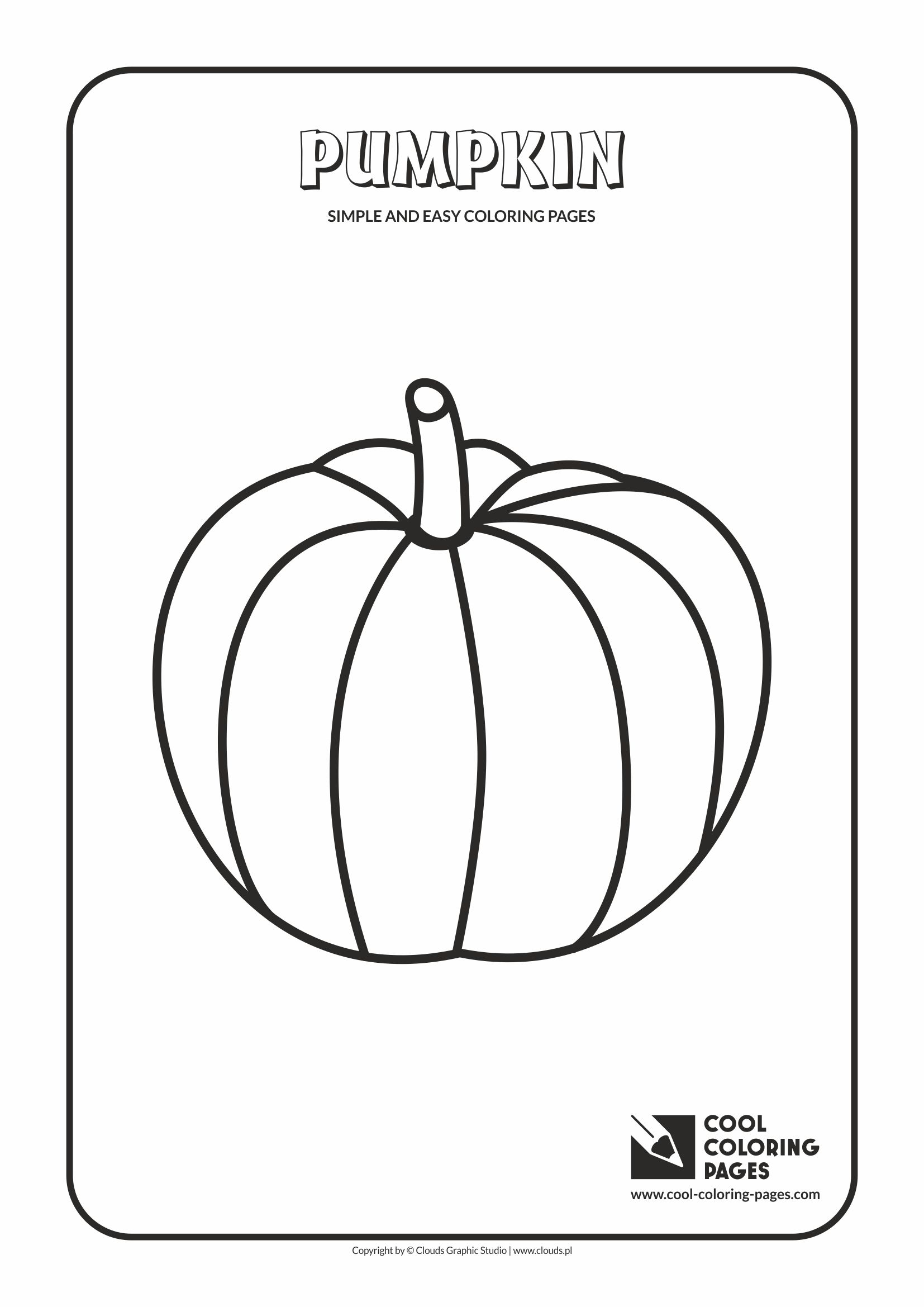 Simple and easy coloring pages for toddlers - Pumpkin