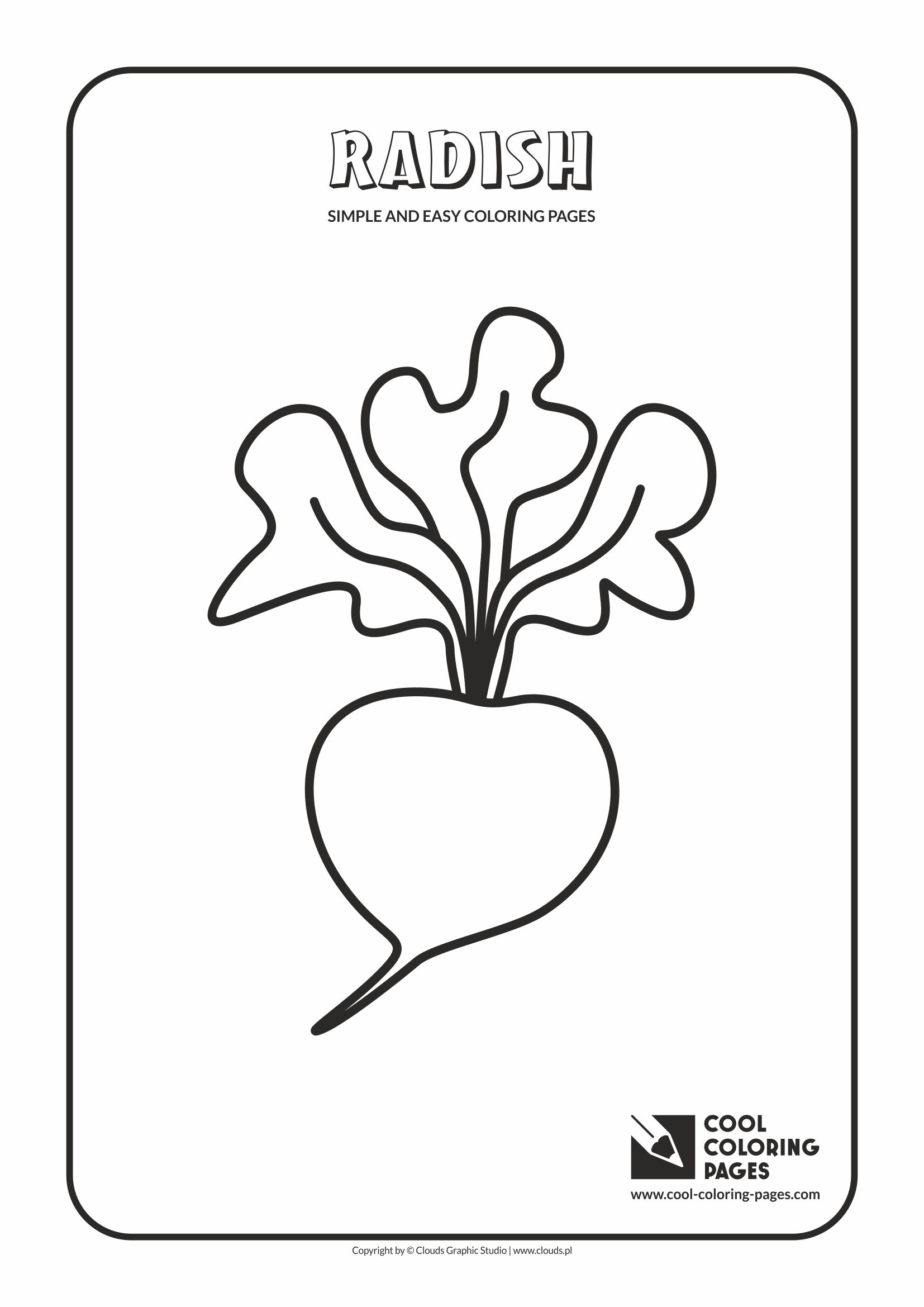 Simple and easy coloring pages for toddlers - Radish