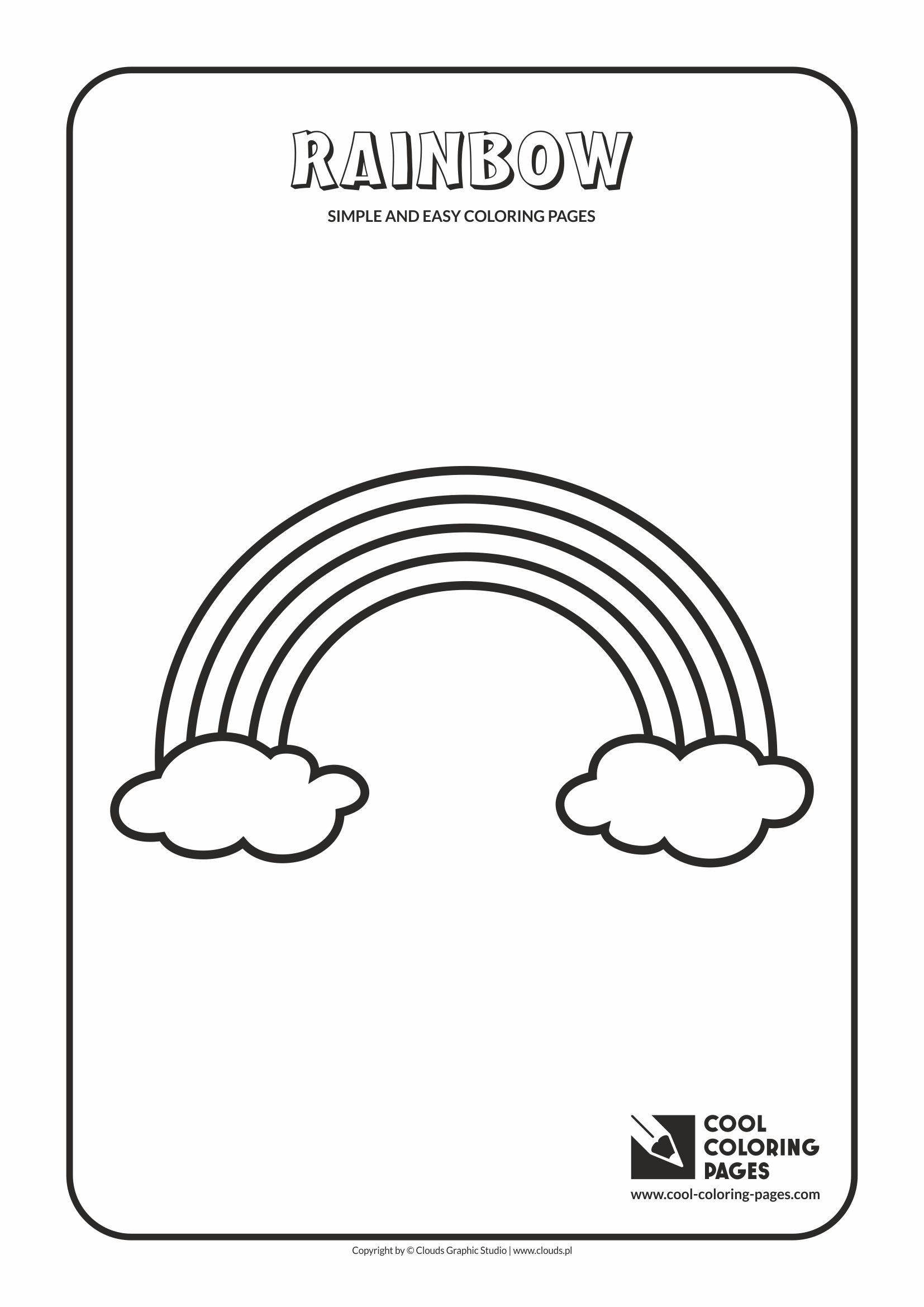 Simple and easy coloring pages for toddlers - Rainbow