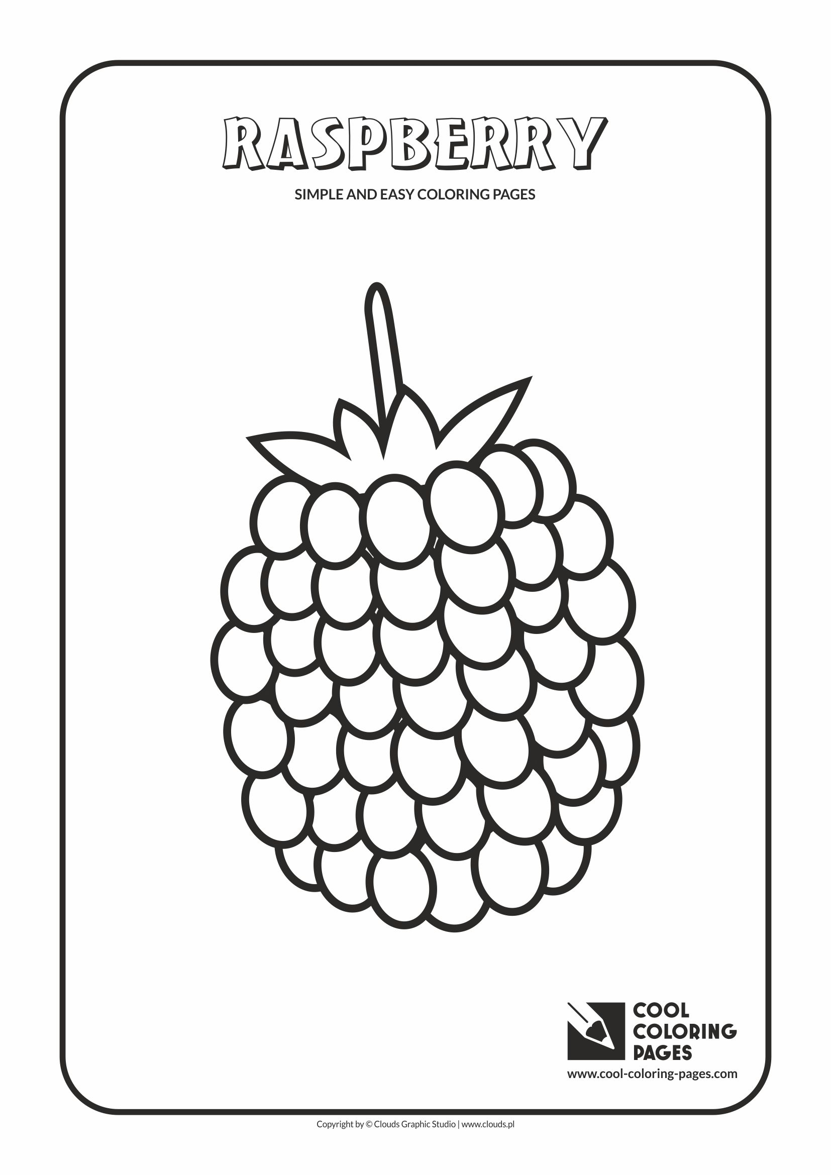 Simple and easy coloring pages for toddlers - Raspberry