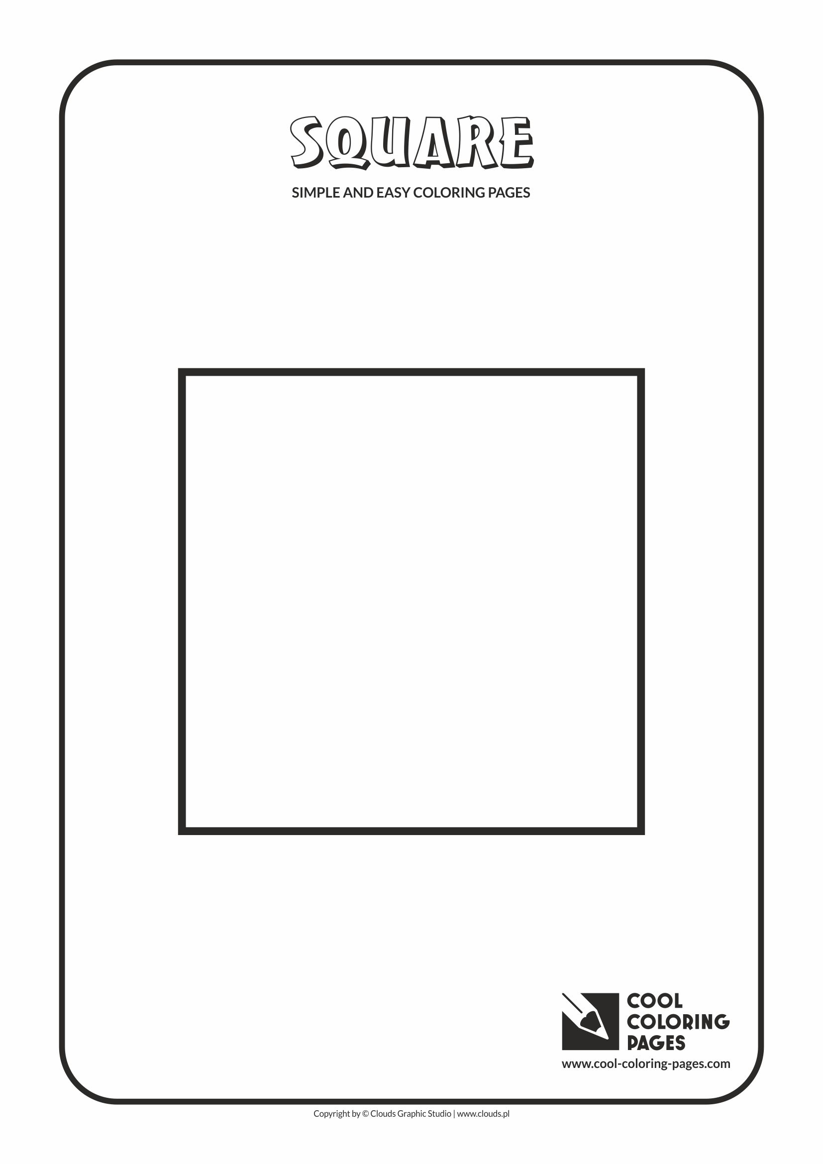 Simple and easy coloring pages for toddlers - Square