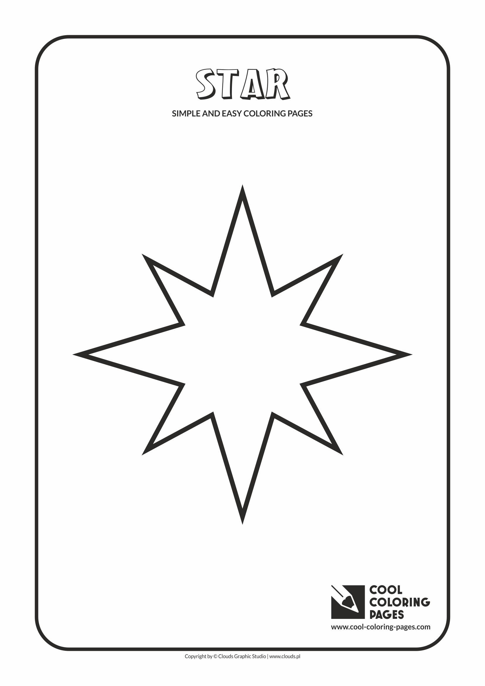 Simple and easy coloring pages for toddlers - Star