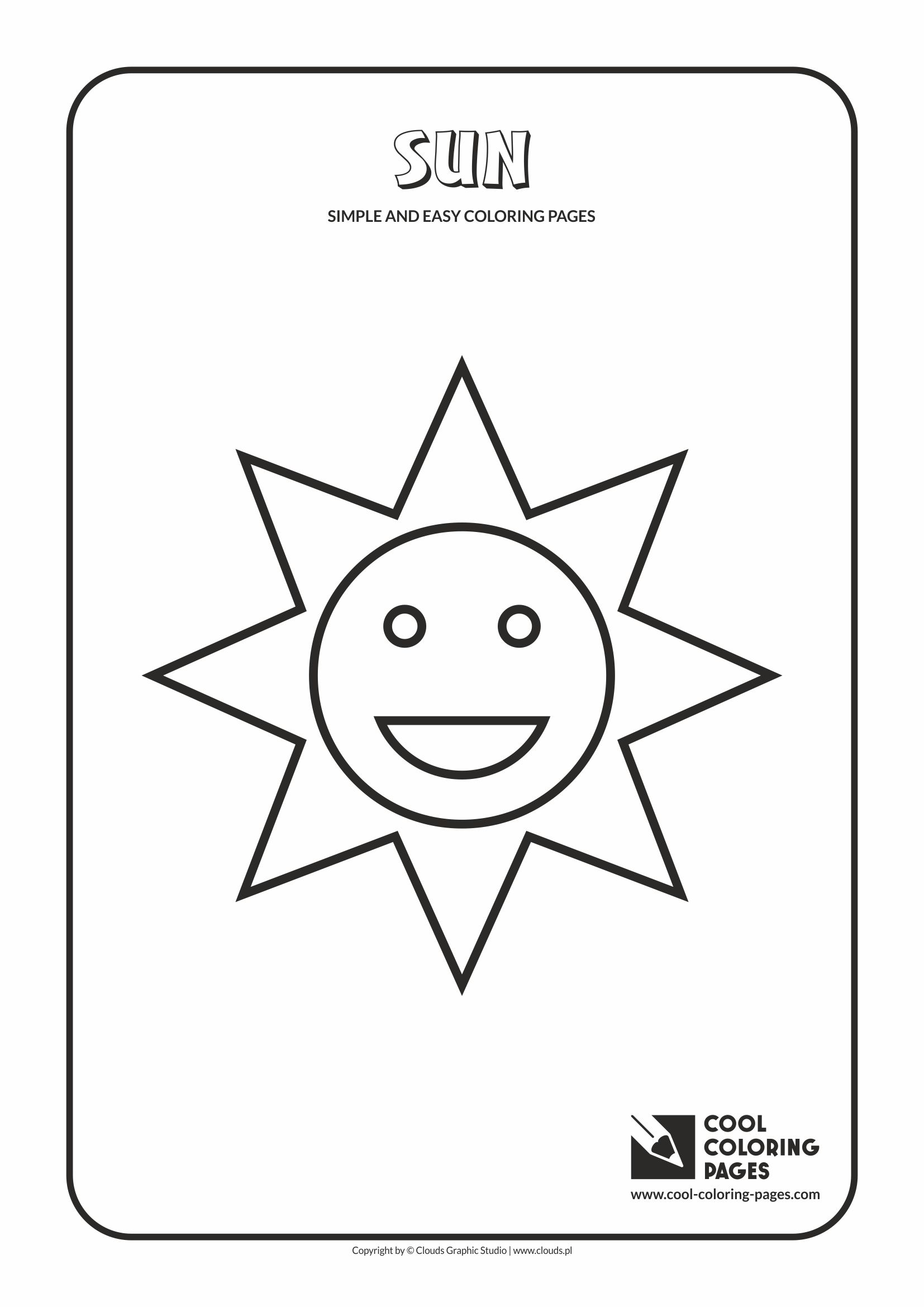 Cool Coloring Pages Simple and easy coloring pages - Sun - Cool ...