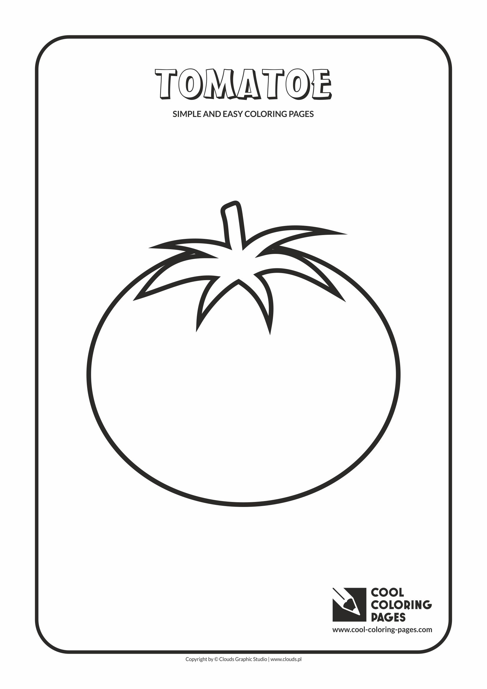 Simple and easy coloring pages for toddlers - Tomatoe