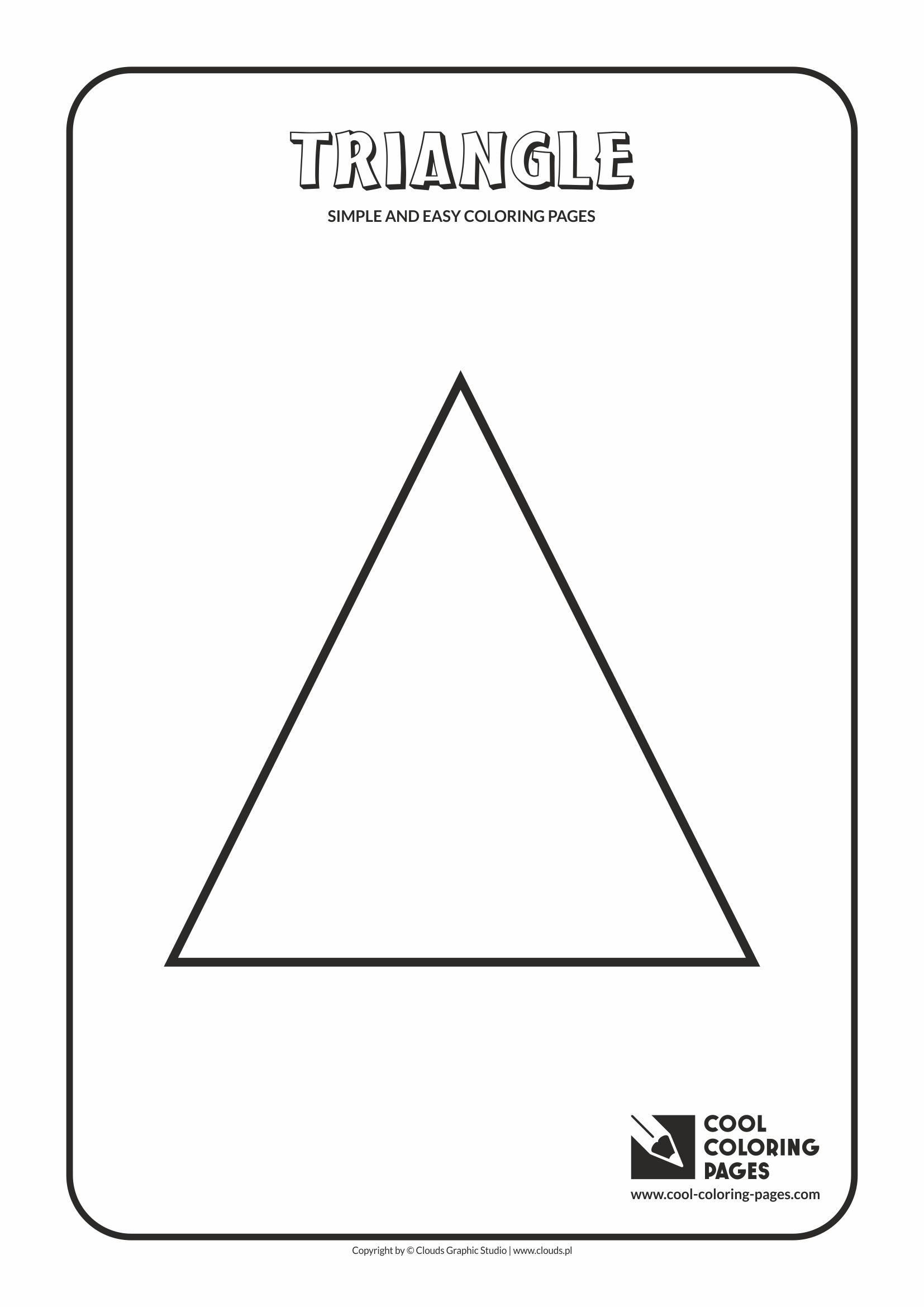 Simple and easy coloring pages for toddlers - Triangle