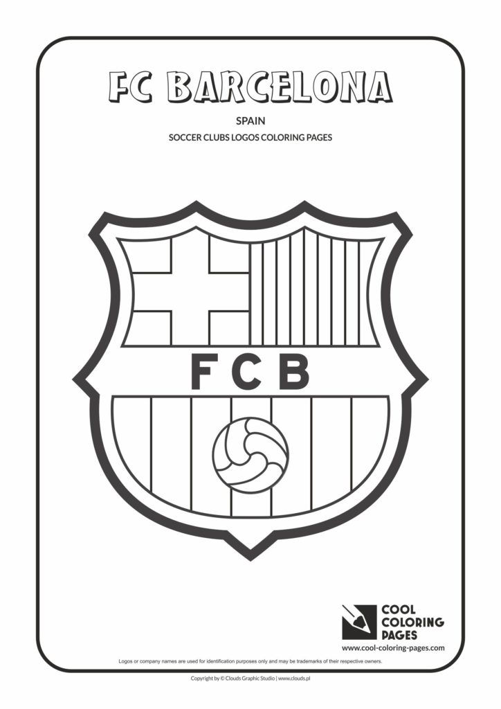Cool Coloring Pages FC Barcelona Logo Coloring Page
