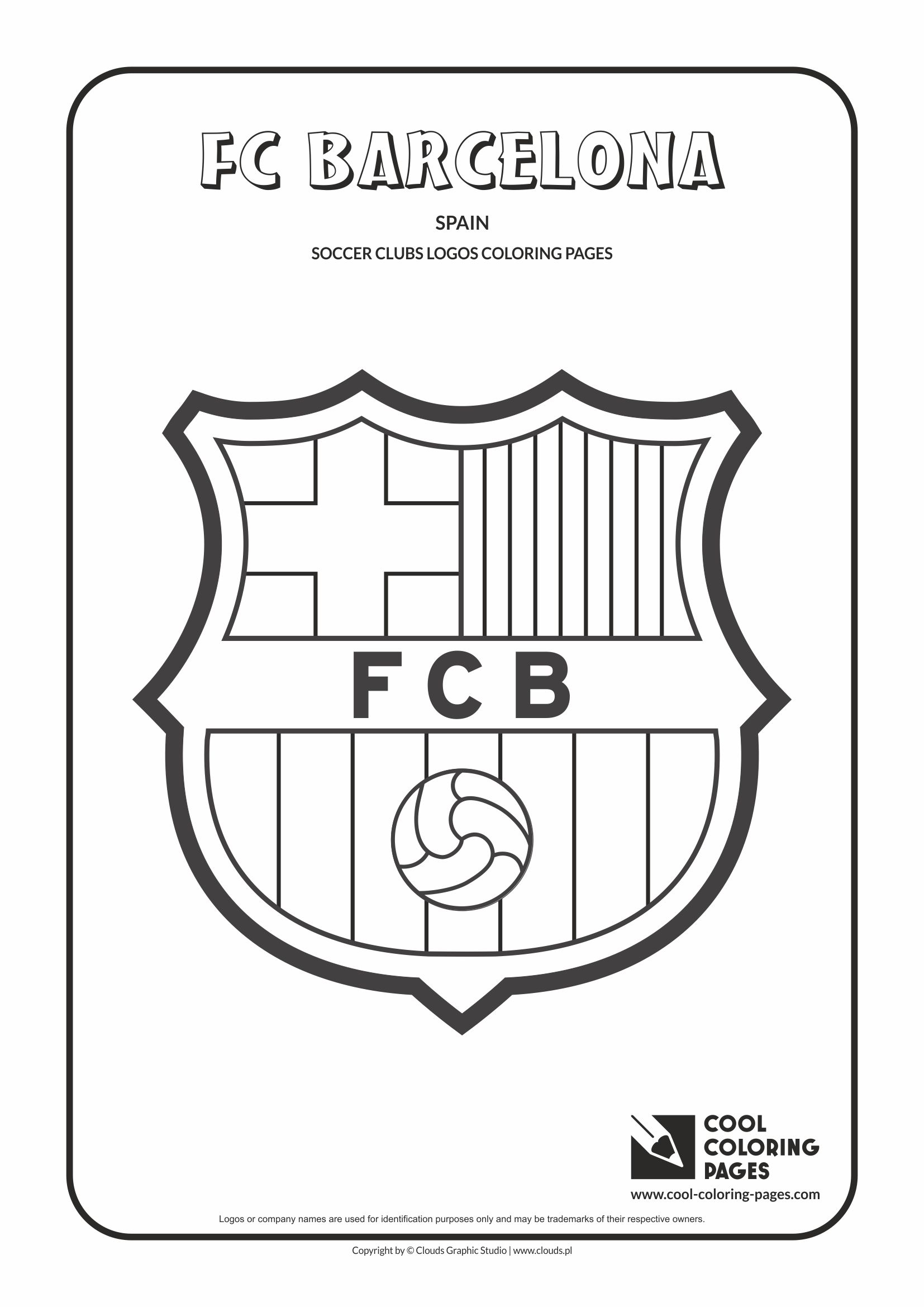 cool coloring pages others fc barcelona logo coloring page with fc barcelona logo - Cool Colouring Pages