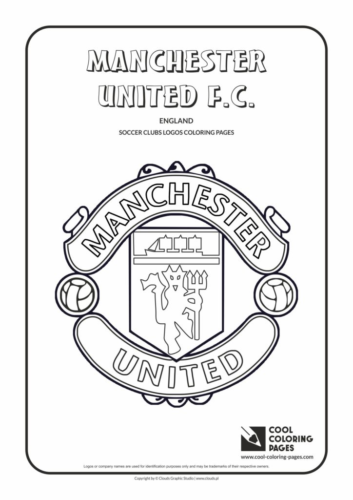 cool coloring pages manchester united f c  logo coloring