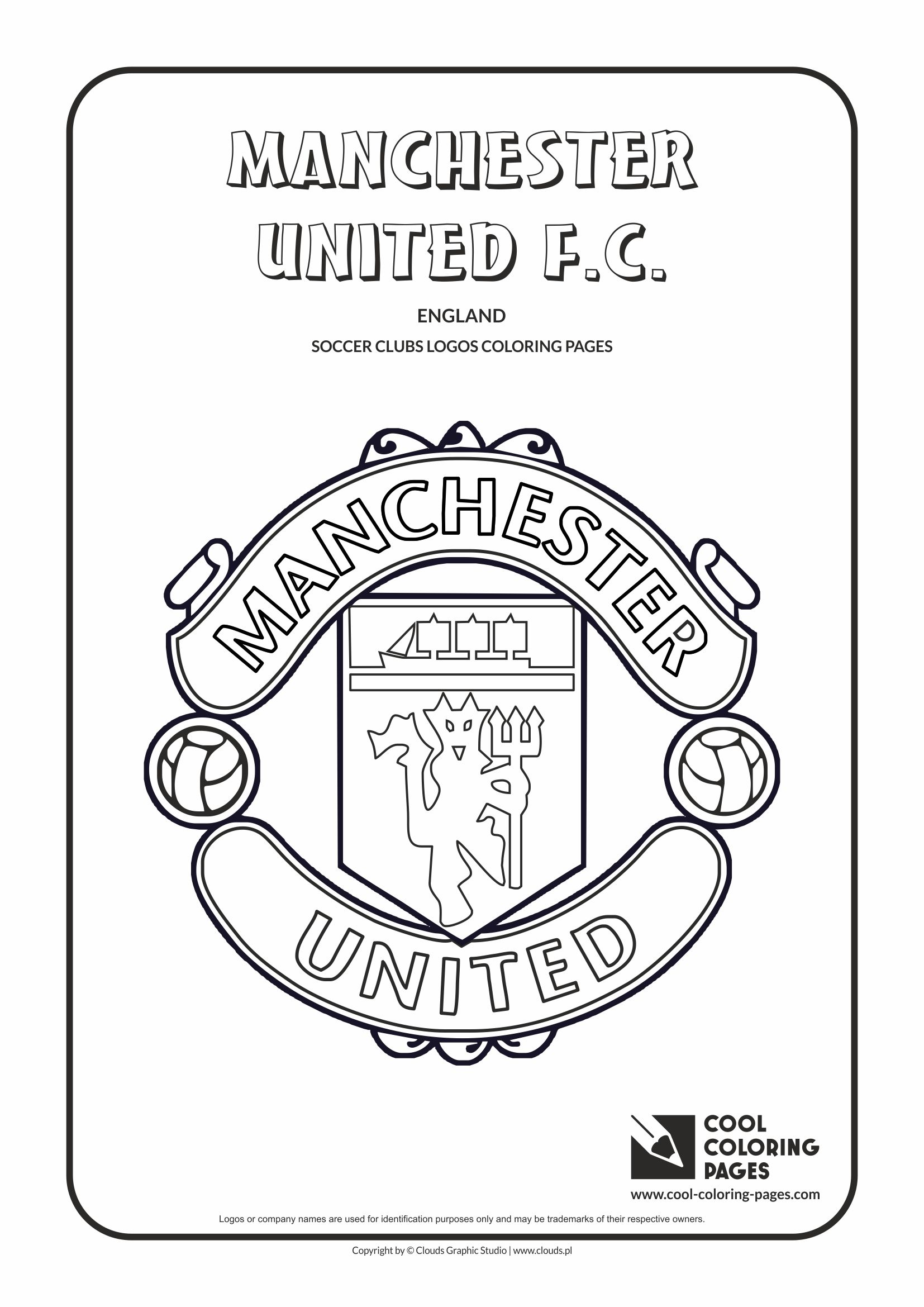 Cool Coloring Pages - Soccer Club Logos / Manchester United F.C. logo / Coloring page with Manchester United F.C. logo