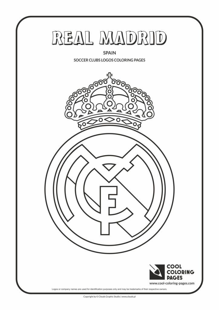 Cool Coloring Pages Real Madrid Logo Coloring Page - Cool Coloring