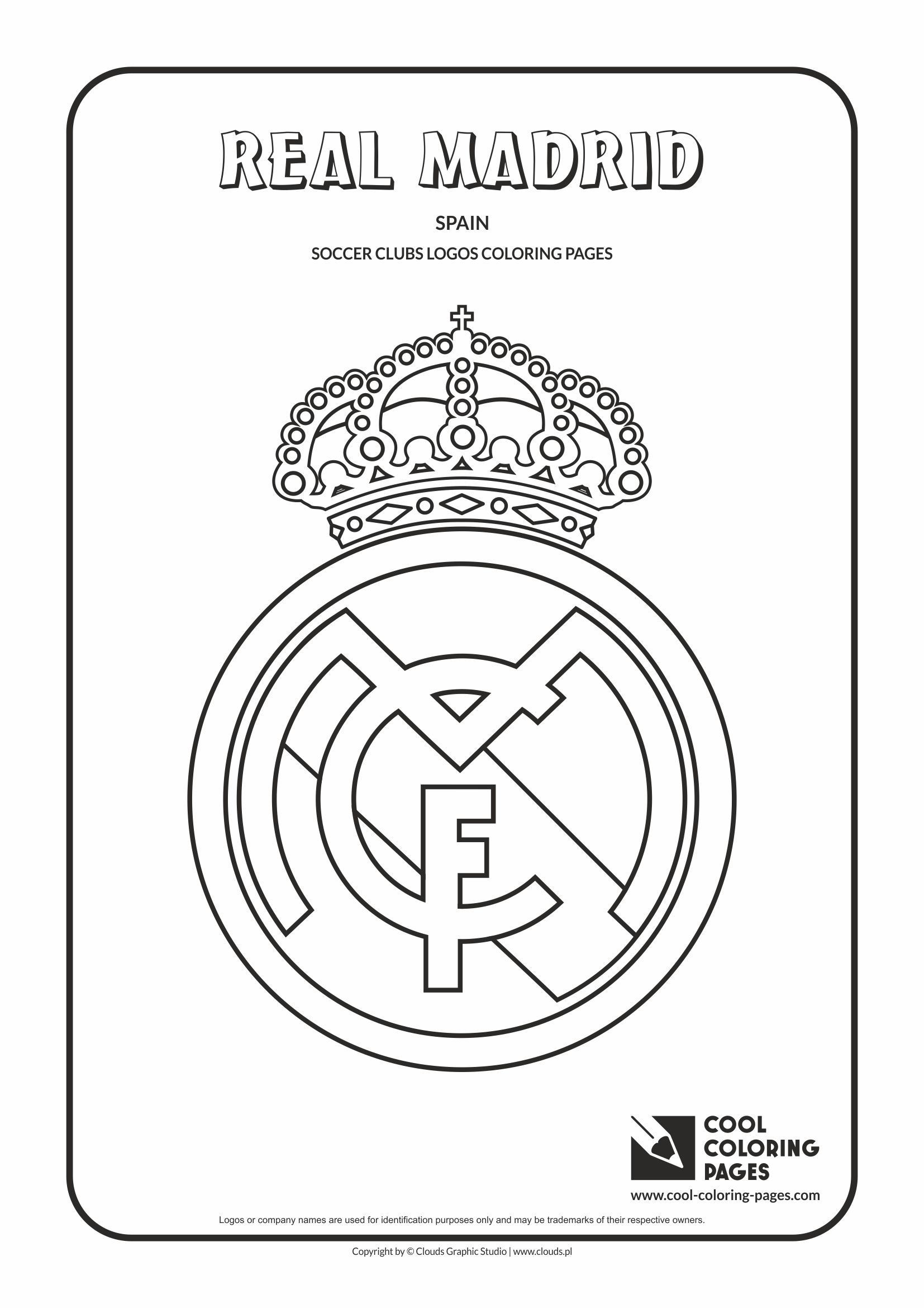 Cool Coloring Pages Real Madrid logo coloring page - Cool Coloring ...