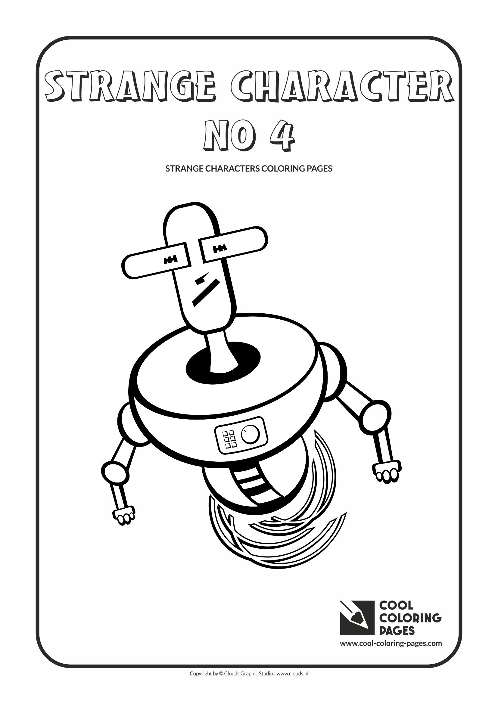 Cool Coloring Pages - Others / Strange character no 4 / Coloring page with strange character no 4