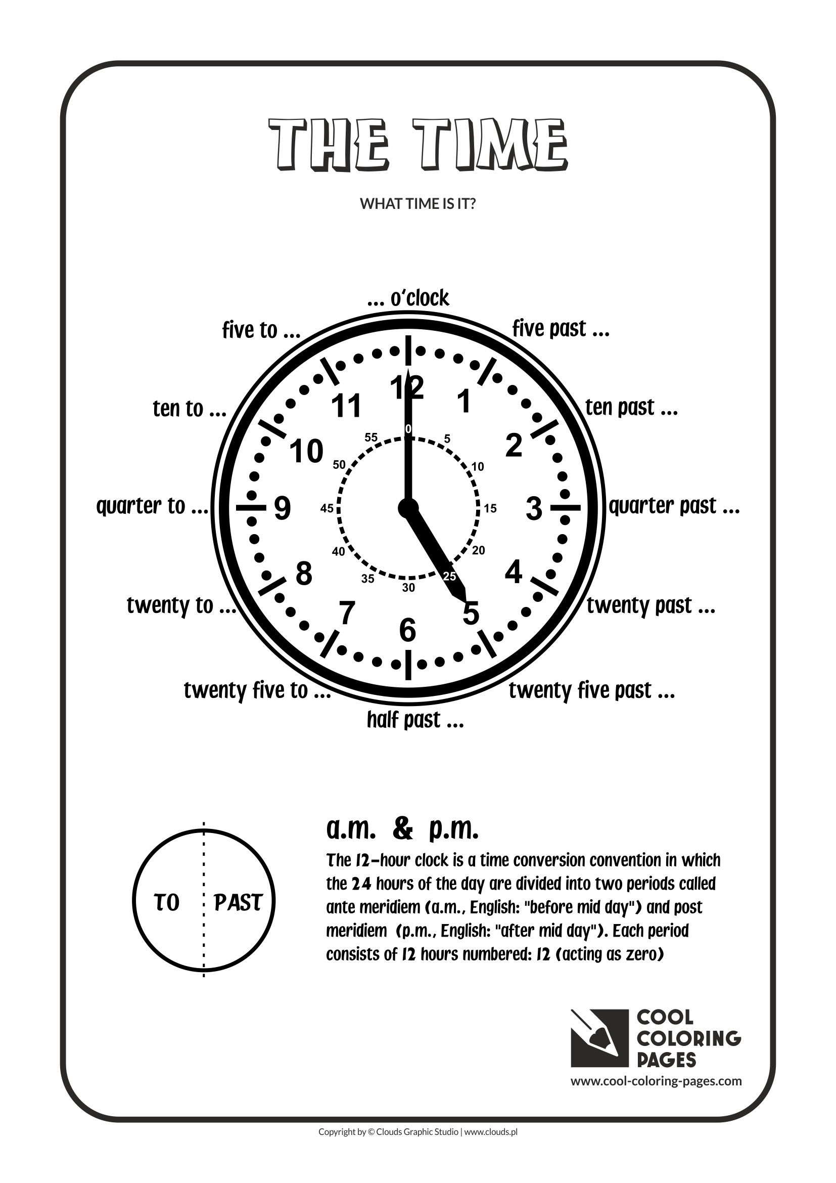 Cool Coloring Pages - Time / The time