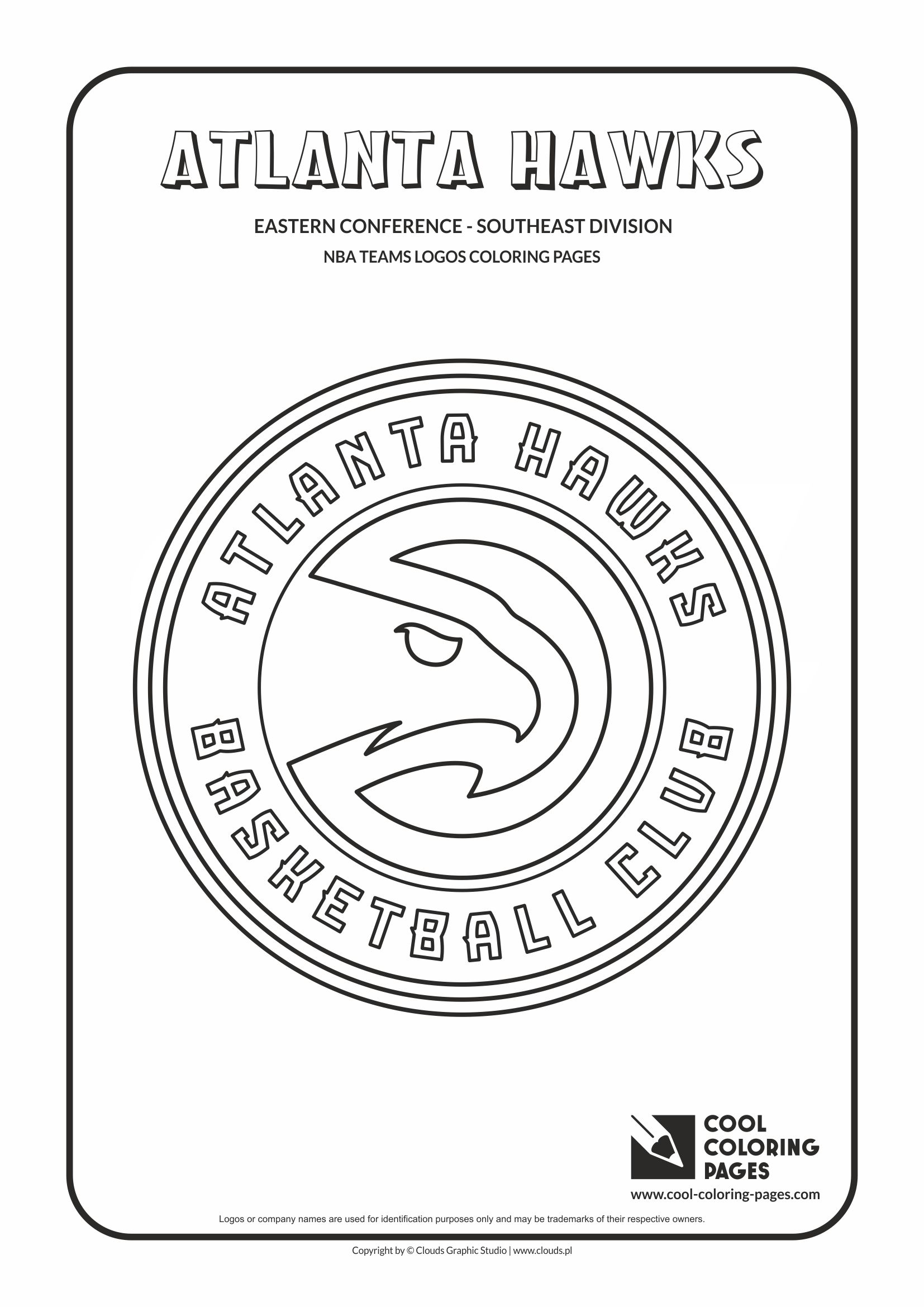 Cool Coloring Pages Atlanta Hawks Nba Basketball Teams