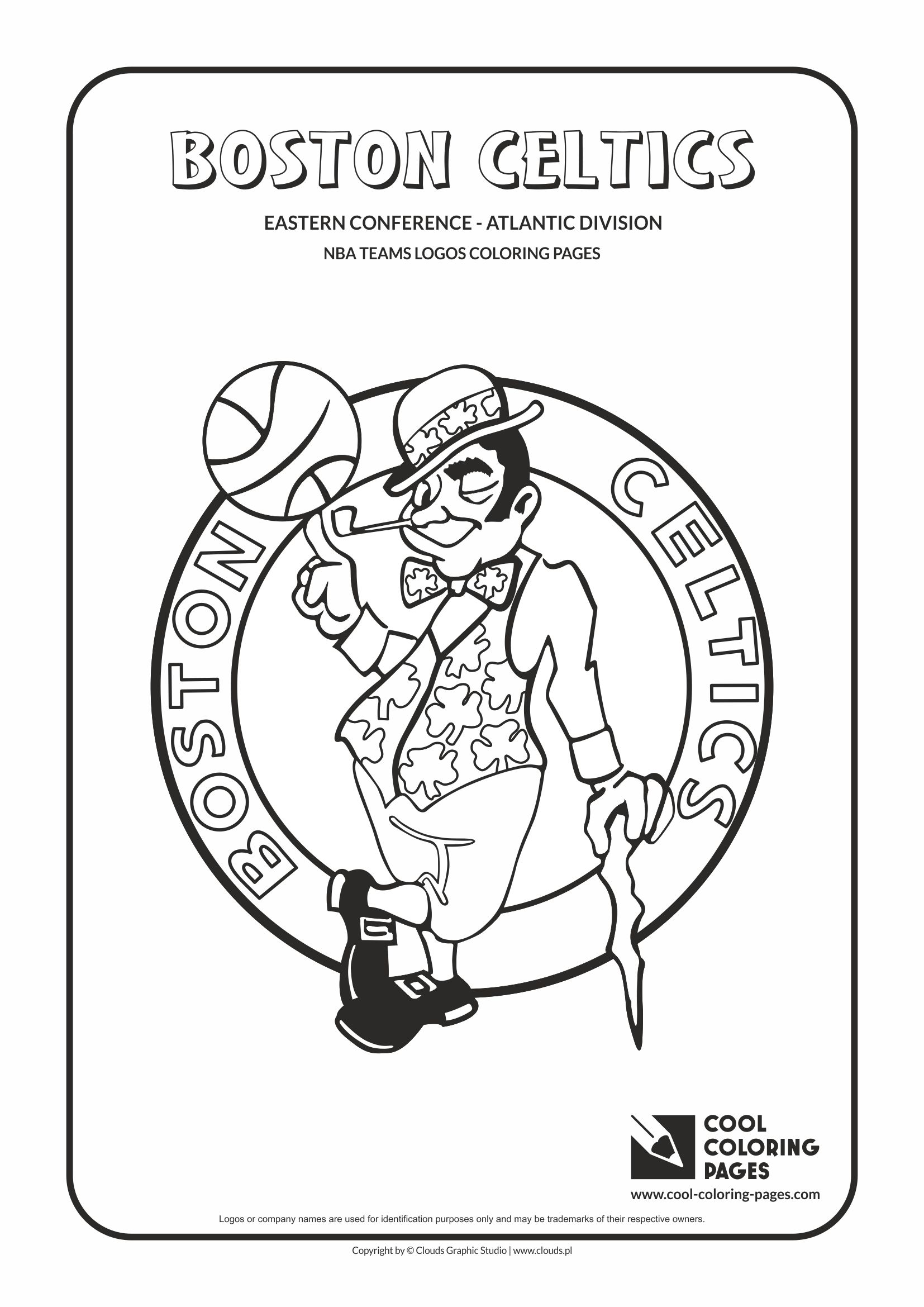 Cool Coloring Pages Boston Celtics Nba Basketball Teams