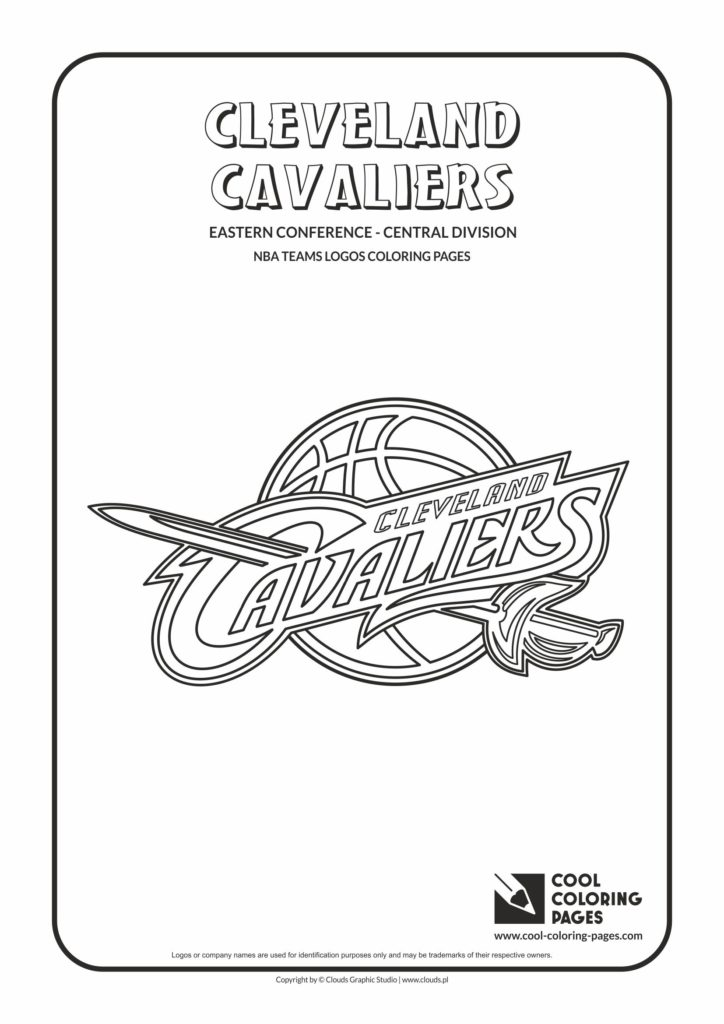photo relating to Cavs Printable Schedule called Amazing Coloring Internet pages Cleveland Cavaliers - NBA basketball