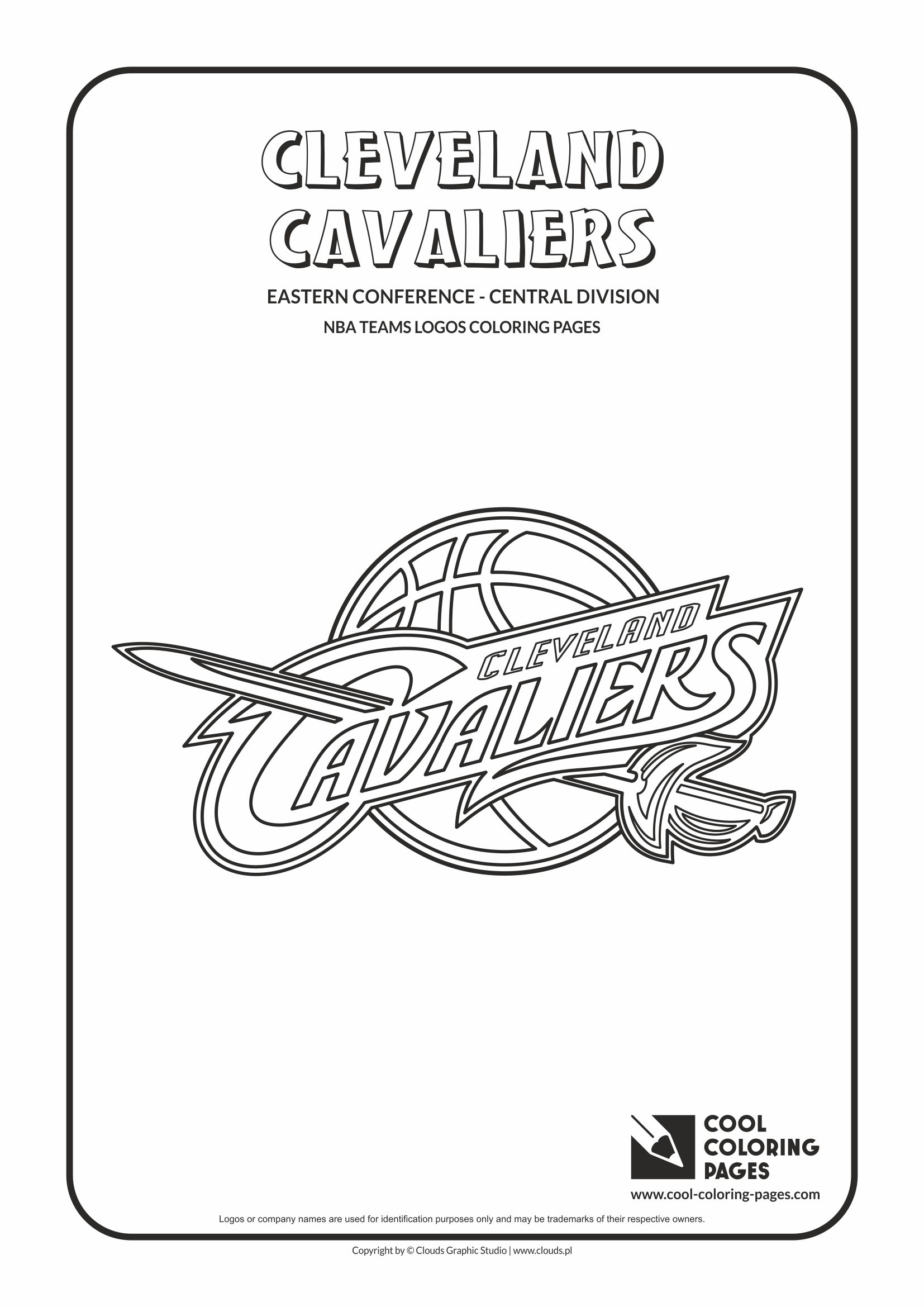 Cool Coloring Pages Cleveland Cavaliers Nba Basketball Teams Logos
