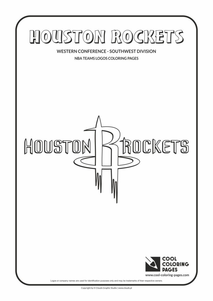 Cool Coloring Pages Houston Rockets Nba Basketball Teams