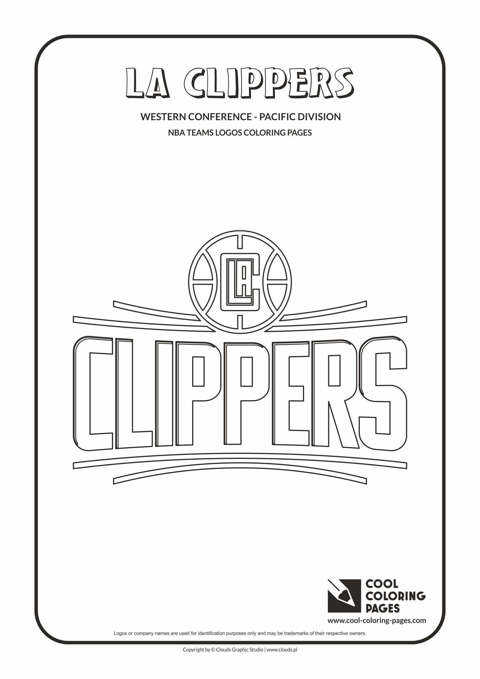 la clippers u2013 nba basketball teams logos coloring pages cool