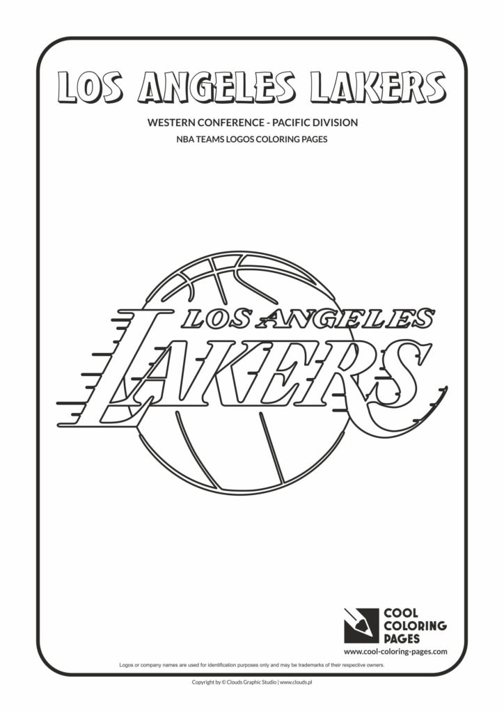 Cool Coloring Pages Los Angeles Lakers