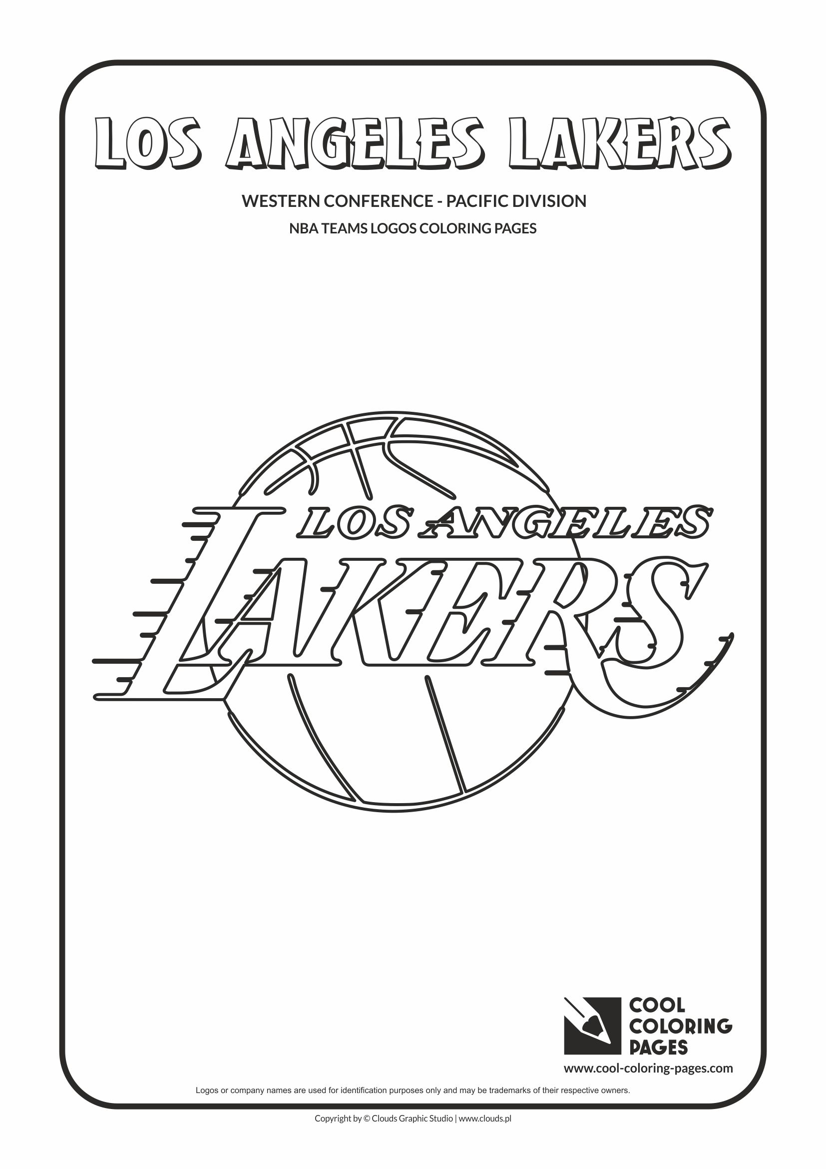 los angeles lakers u2013 nba basketball teams logos coloring pages
