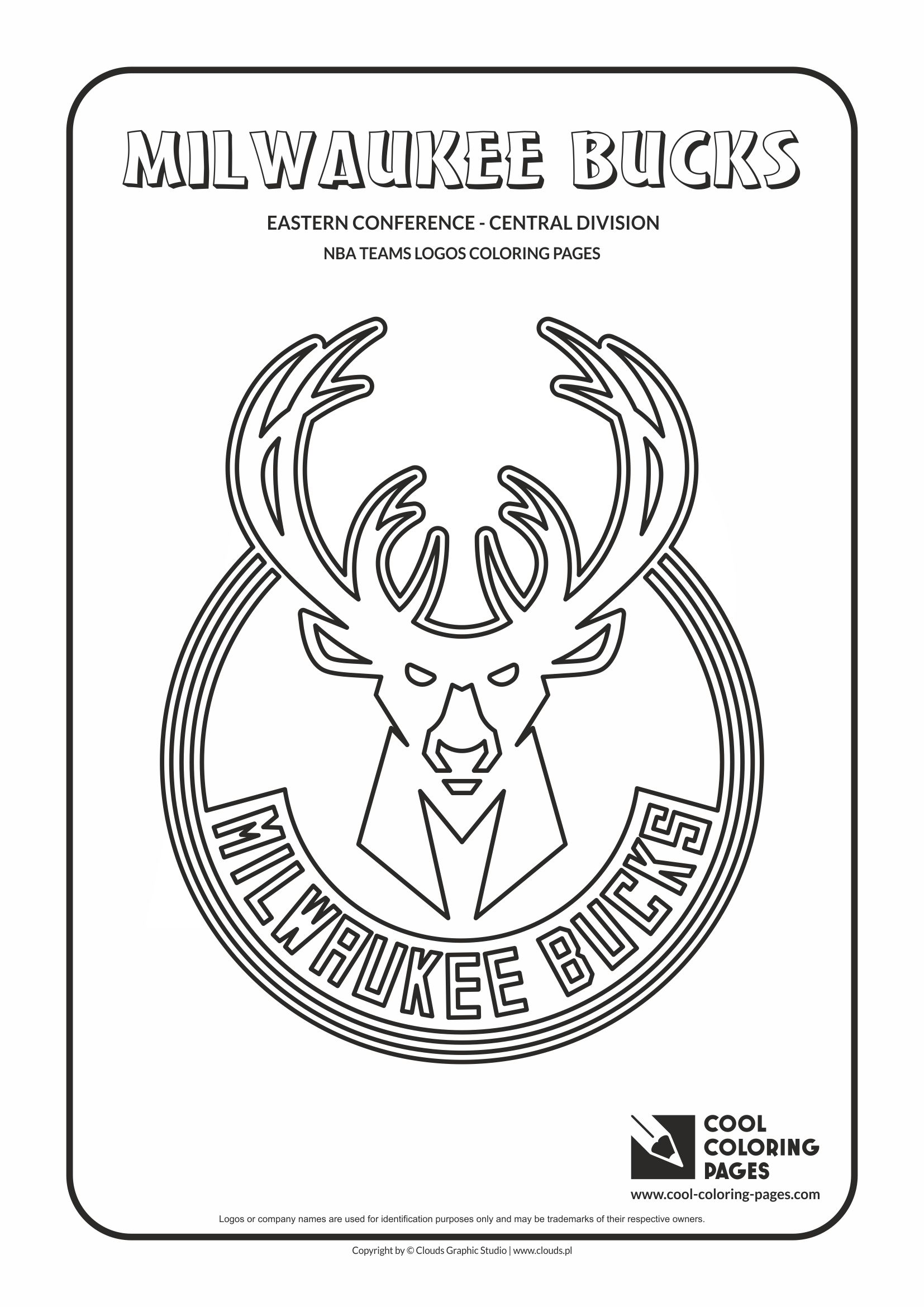 Cool Coloring Pages Milwaukee Bucks Nba Basketball Teams