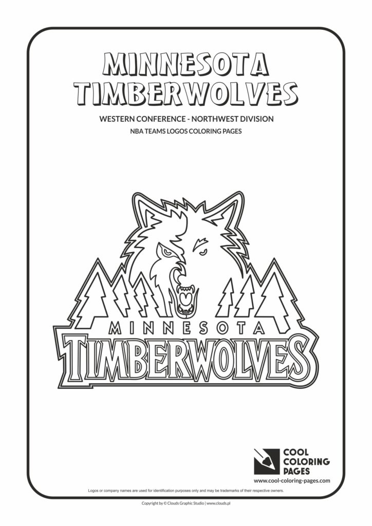 Cool coloring pages minnesota timberwolves nba for Timberwolves coloring pages