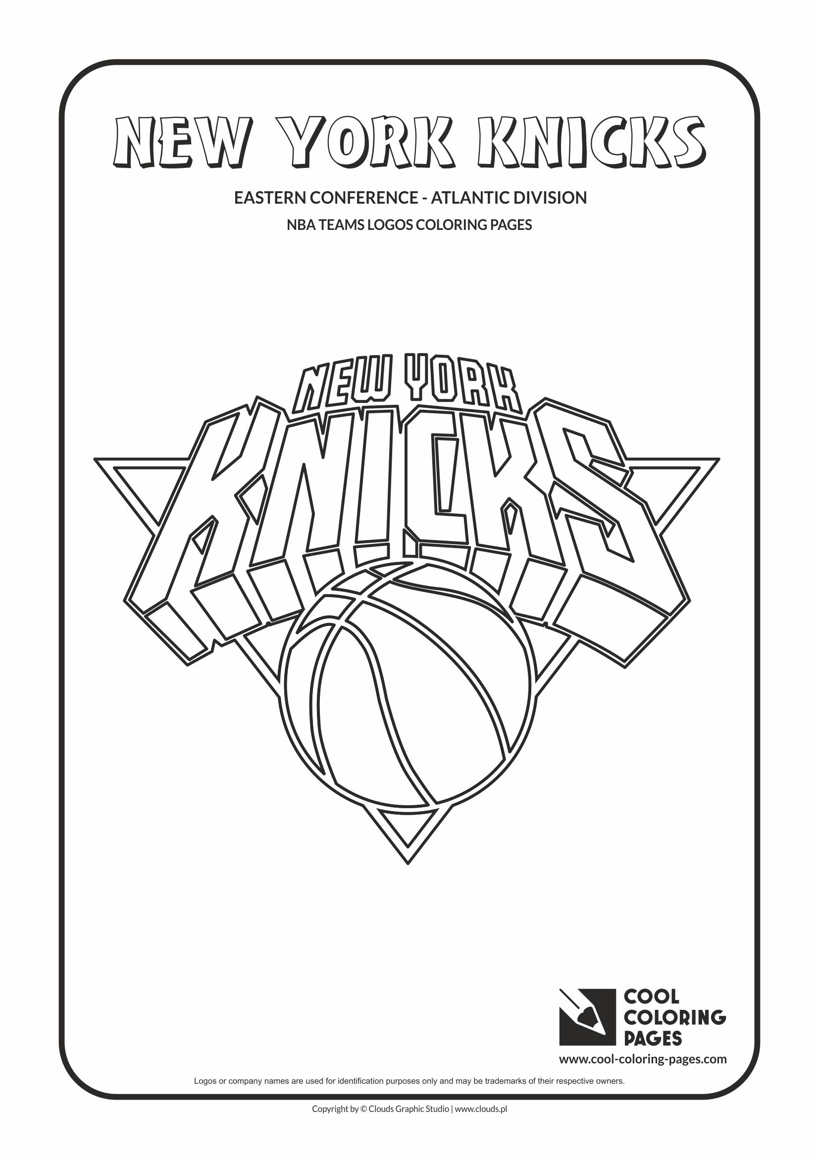 new york knicks u2013 nba basketball teams logos coloring pages cool