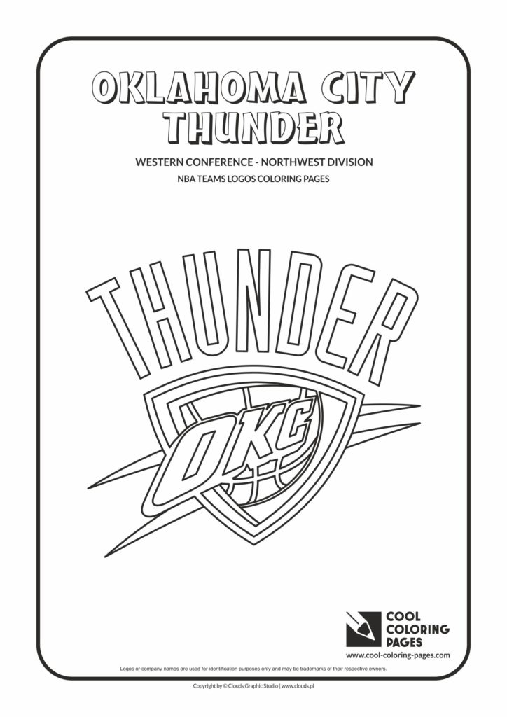 Cool Coloring Pages Oklahoma City Thunder Nba Basketball