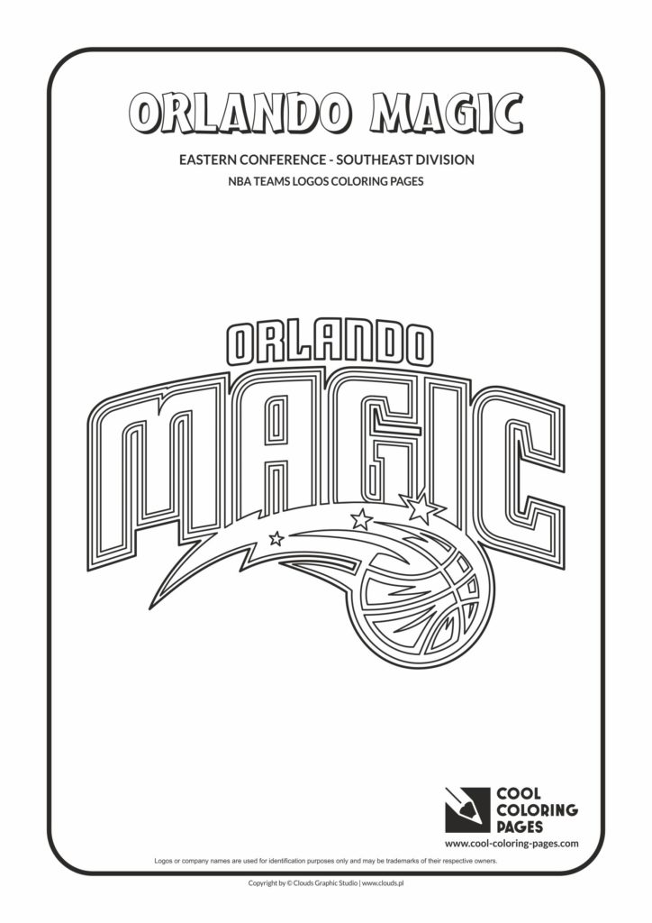 Cool Coloring Pages Orlando Magic Nba Basketball Teams