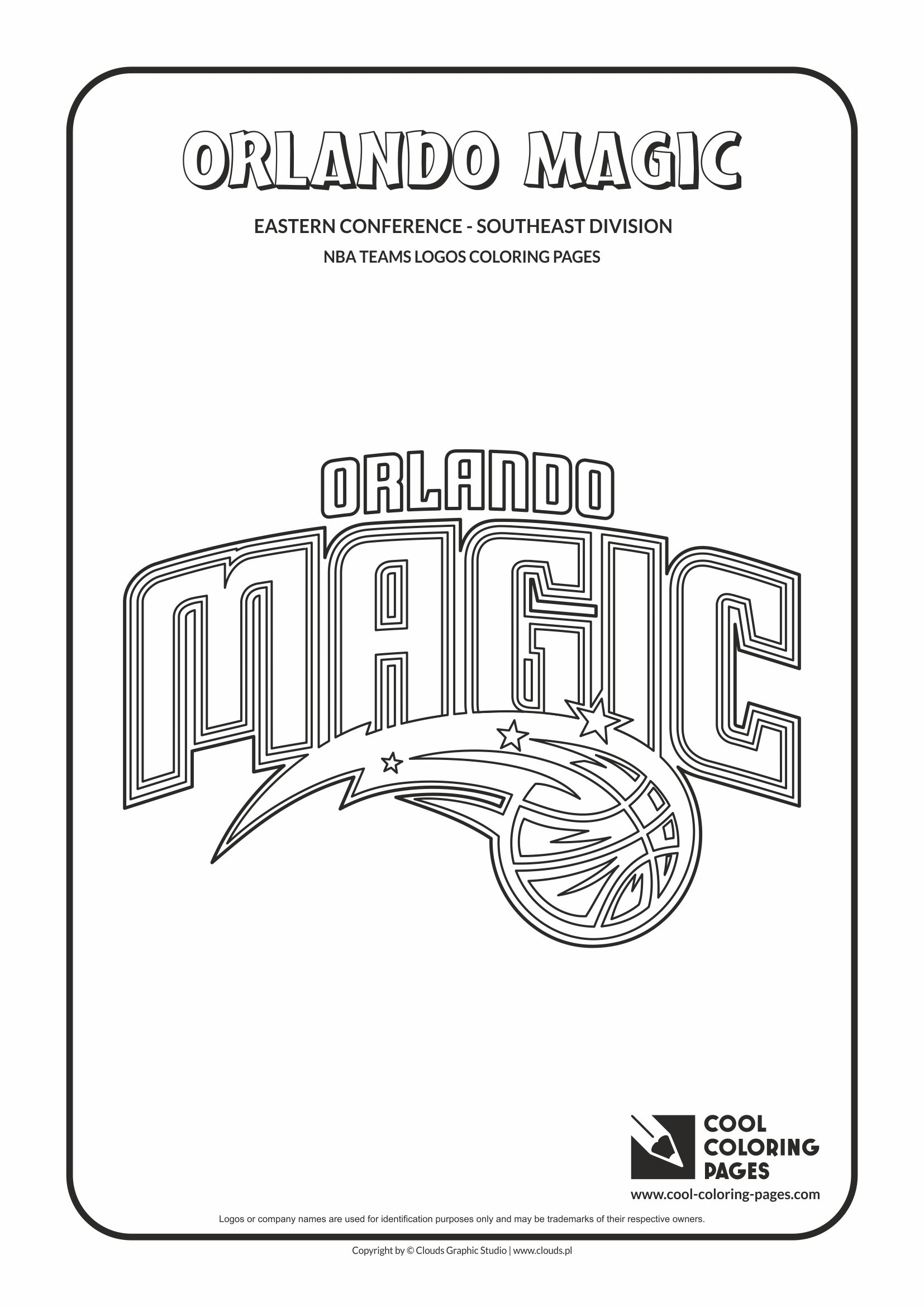 orlando magic u2013 nba basketball teams logos coloring pages cool
