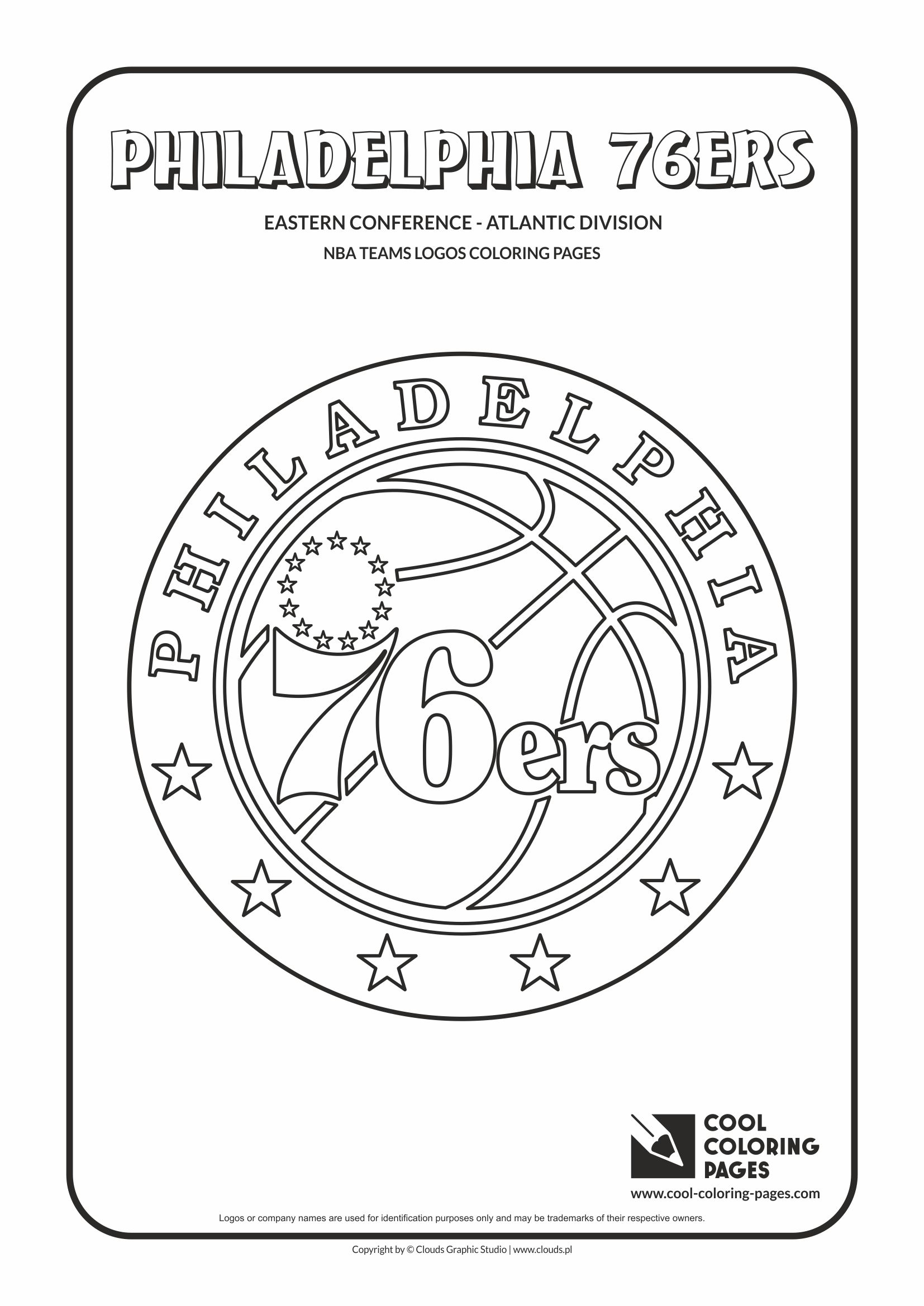 cool coloring pages nba teams logos philadelphia 76ers logo coloring page with philadelphia