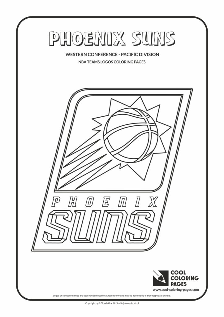Cool Coloring Pages Phoenix Suns Nba Basketball Teams