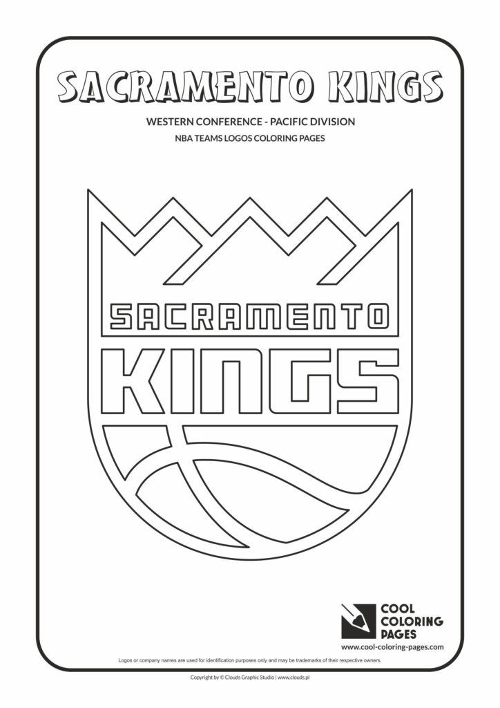 Cool Coloring Pages Sacramento Kings NBA basketball