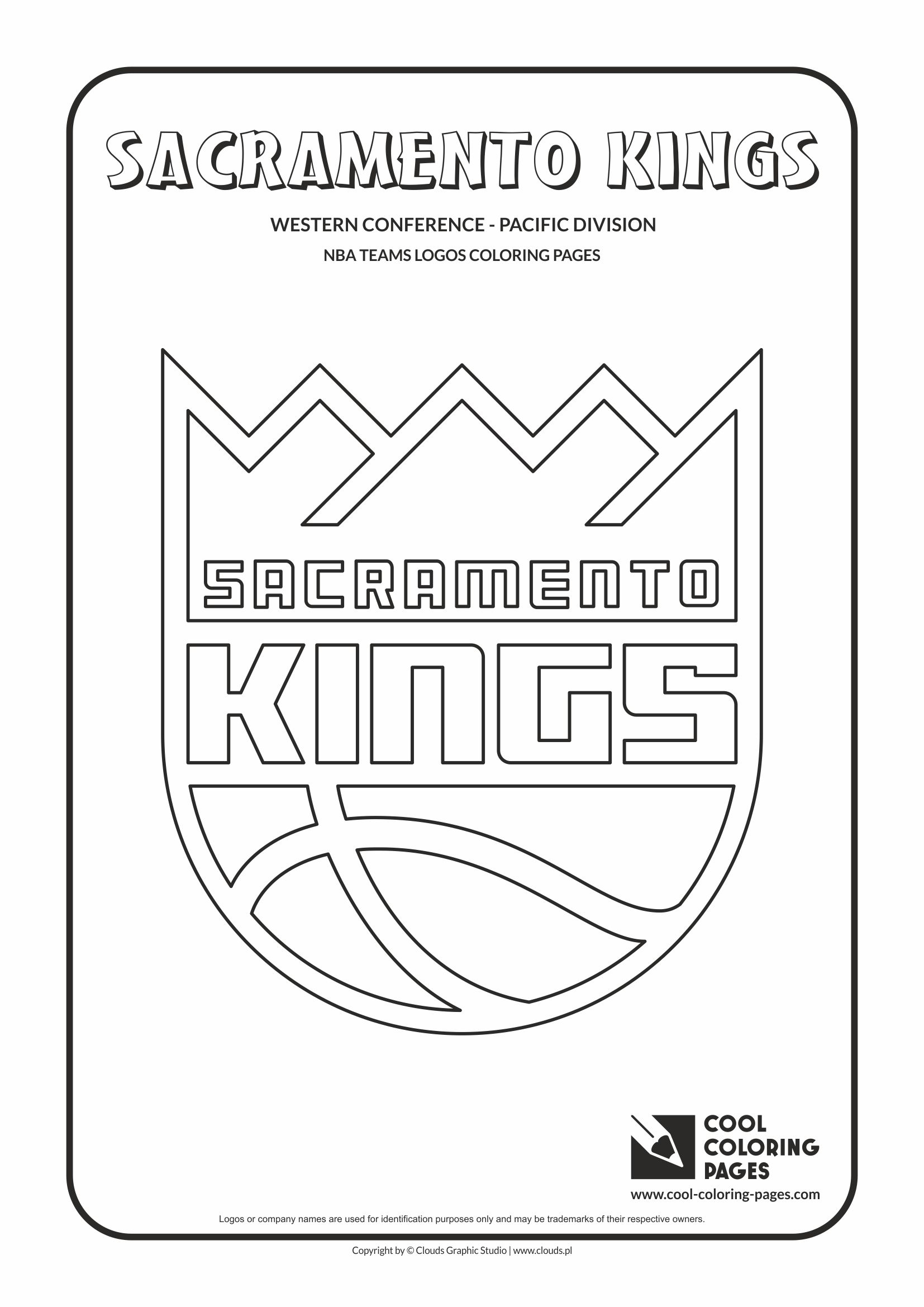 sacramento kings u2013 nba basketball teams logos coloring pages