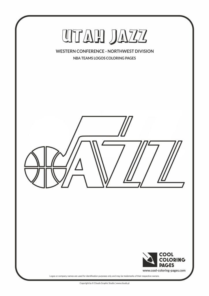 Cool Coloring Pages Utah Jazz NBA basketball teams logos
