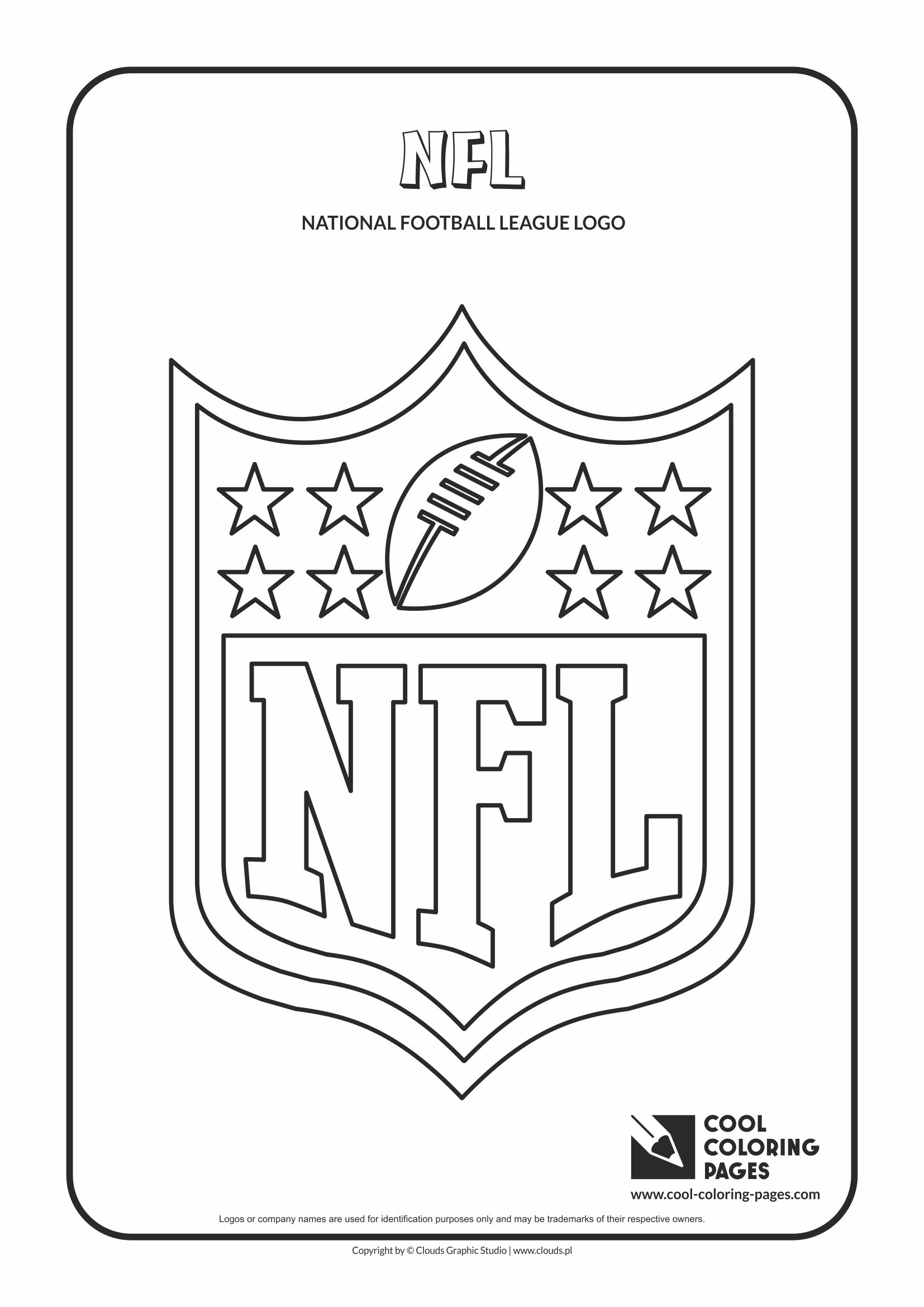 Cool Coloring Pages - NFL logo coloring page